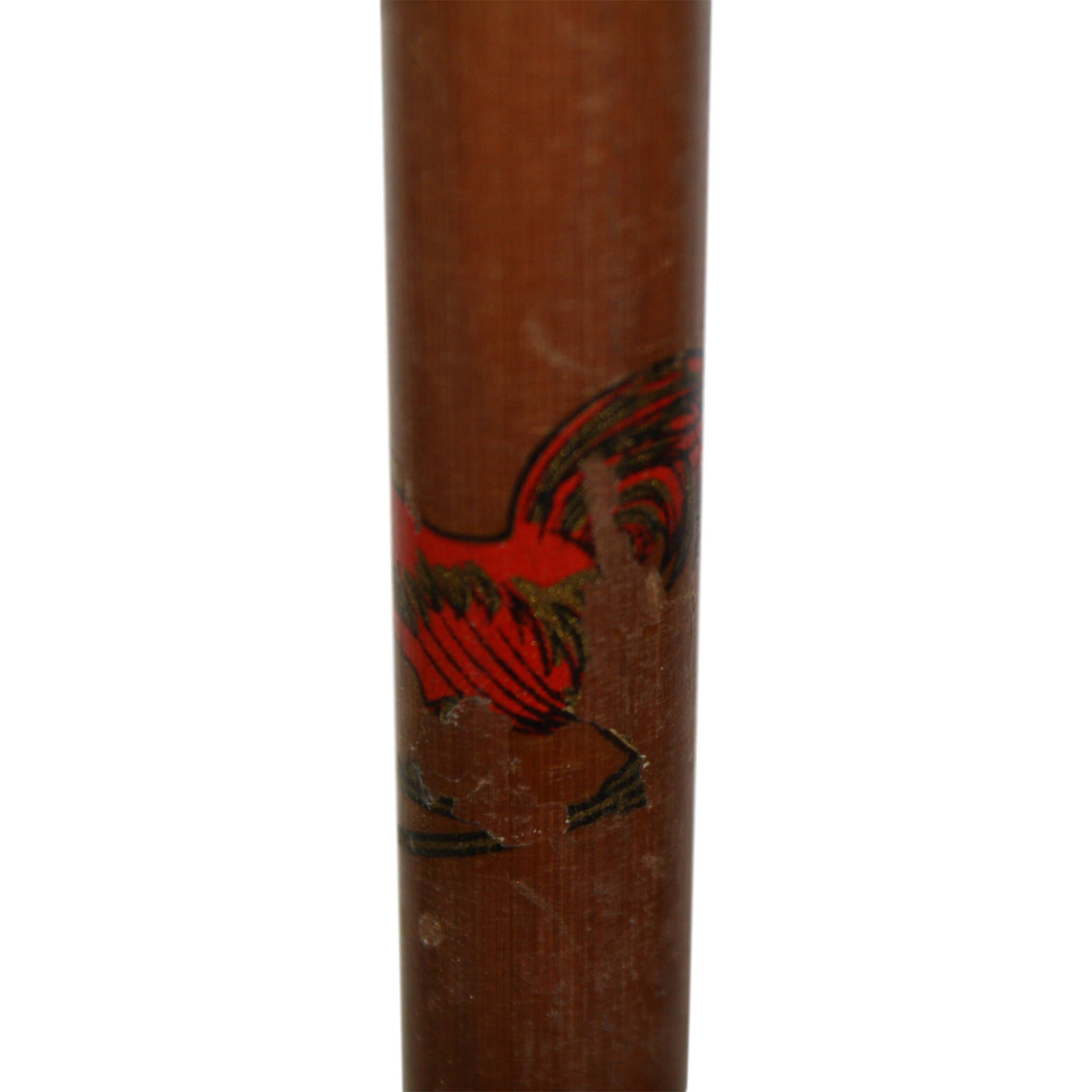 Bamboo Ski Poles with Red Roosters