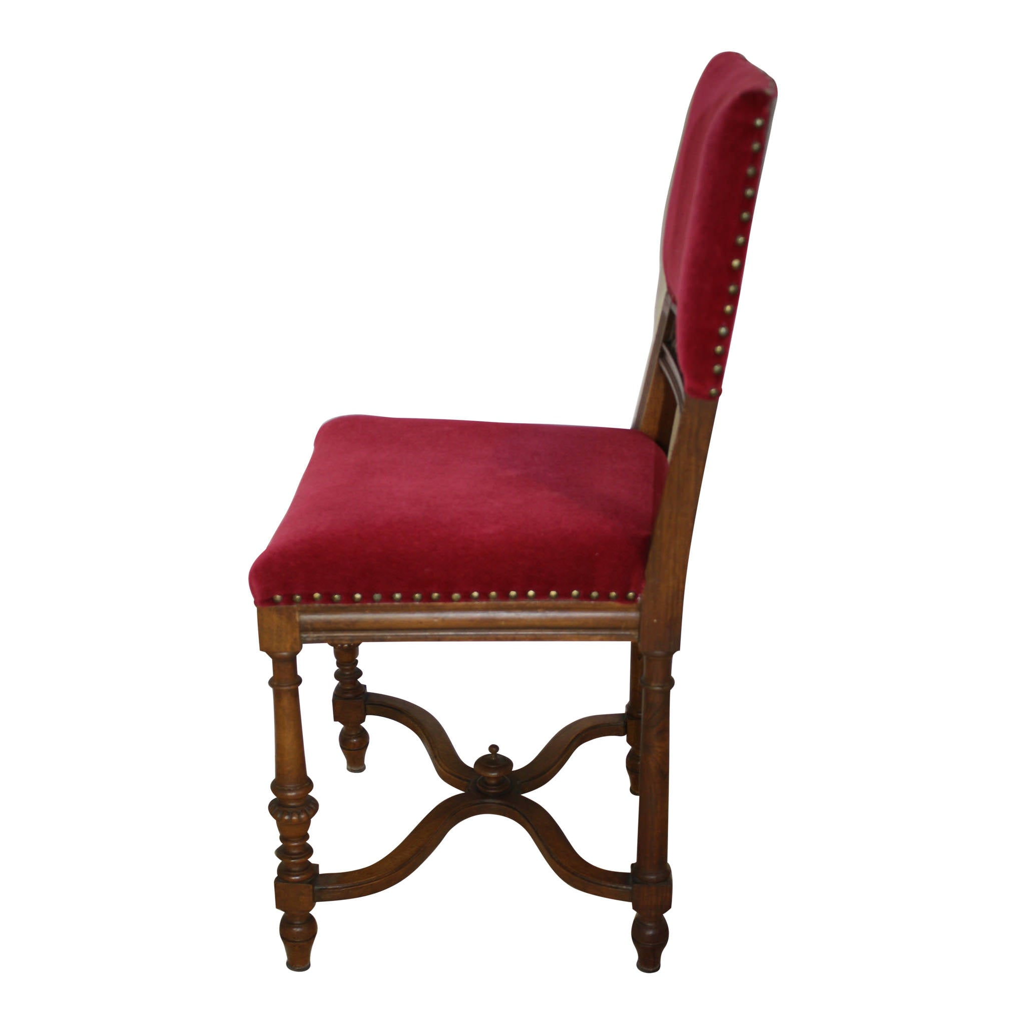 French Carved Oak Chairs/ Set of Four