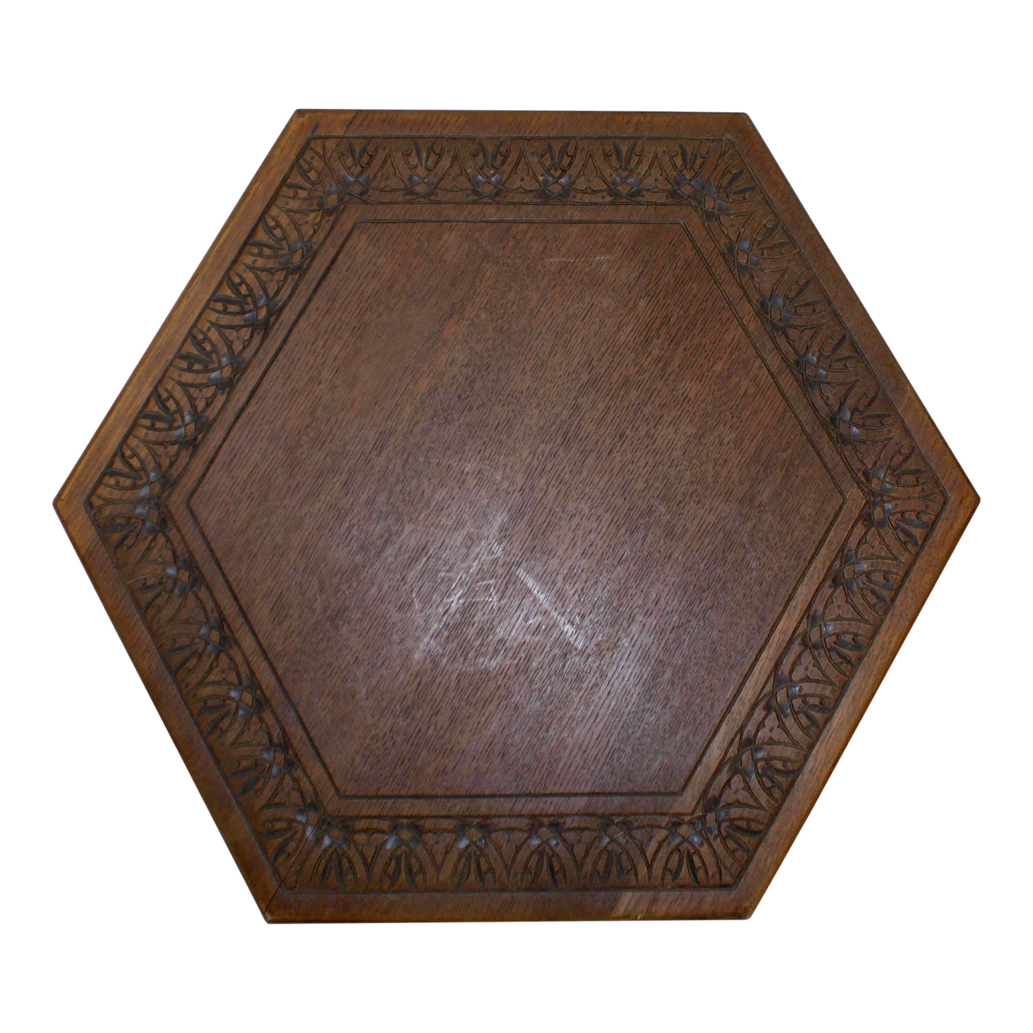 Oak Hexagon Table