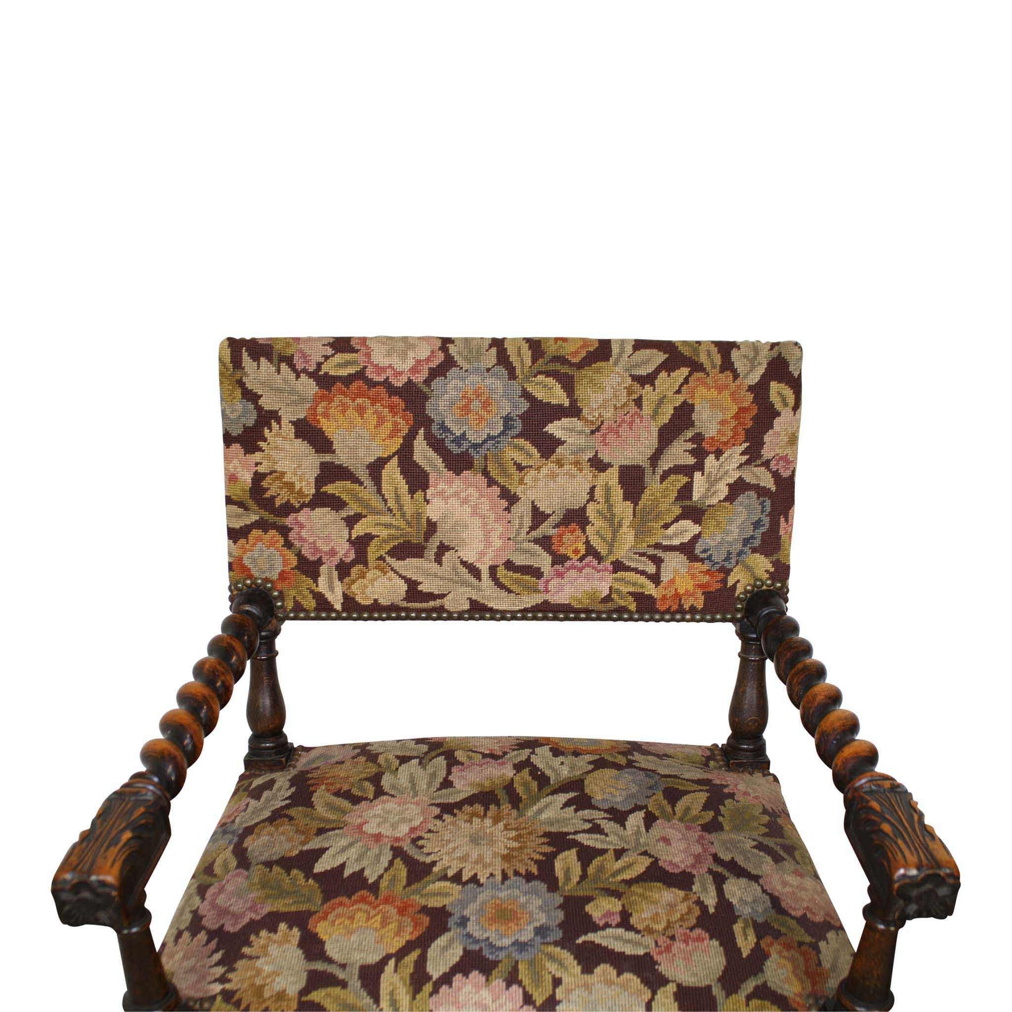 Needlepoint Chairs Set/2