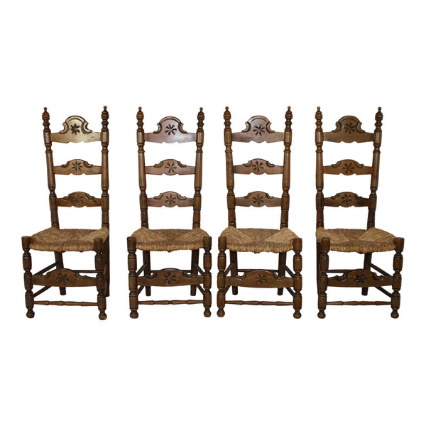 Walnut Chairs Set/4
