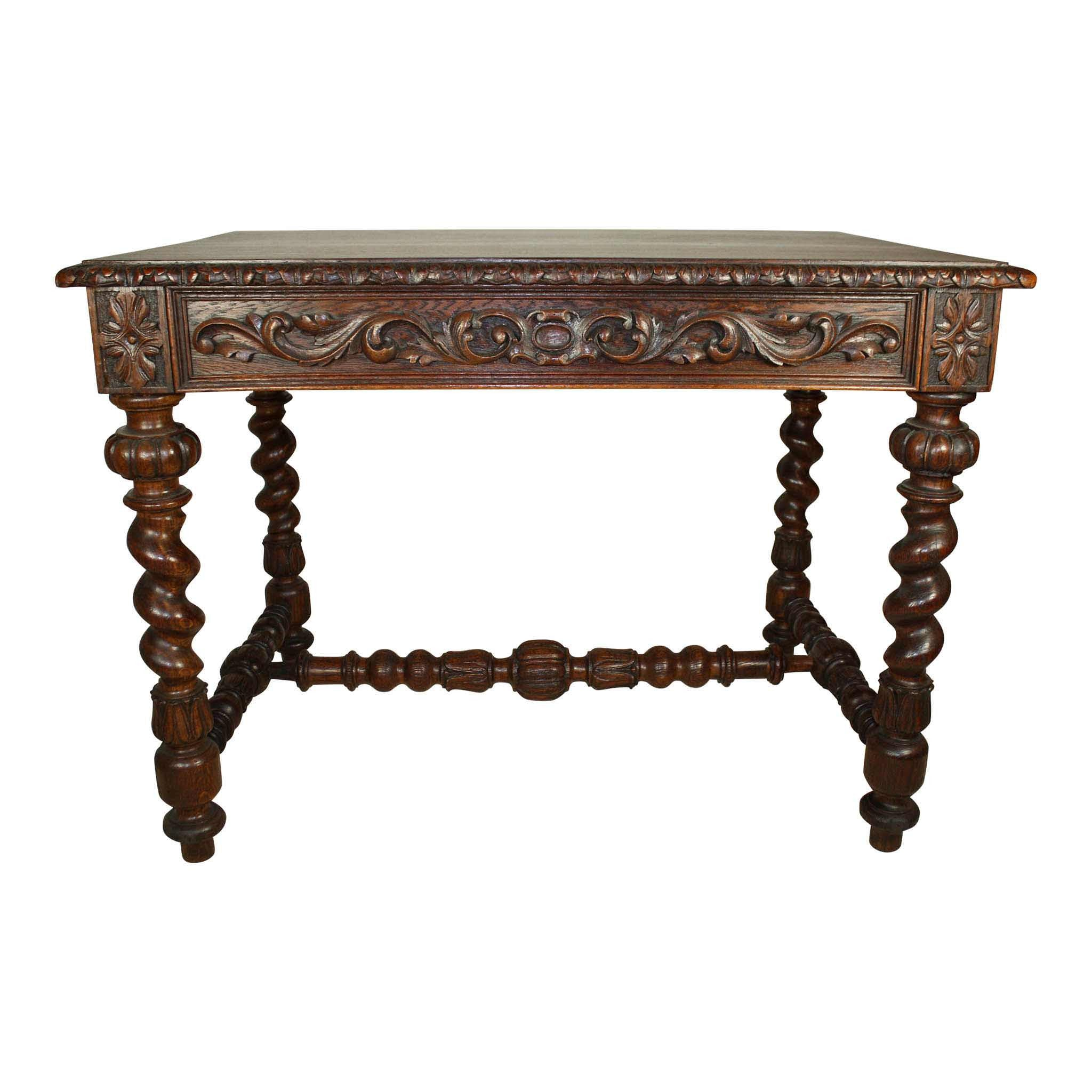 French Oak Library Table