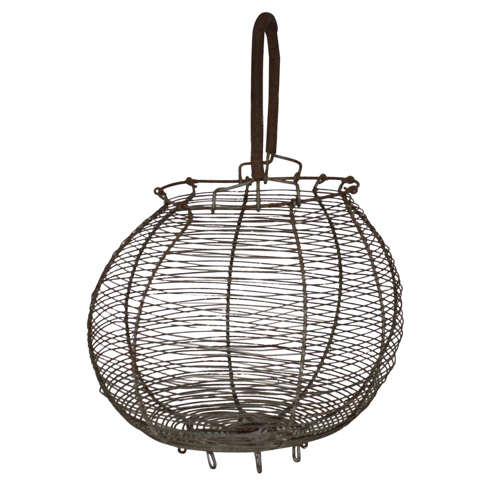 French Wire Egg Basket - Ski Country Antiques & Home