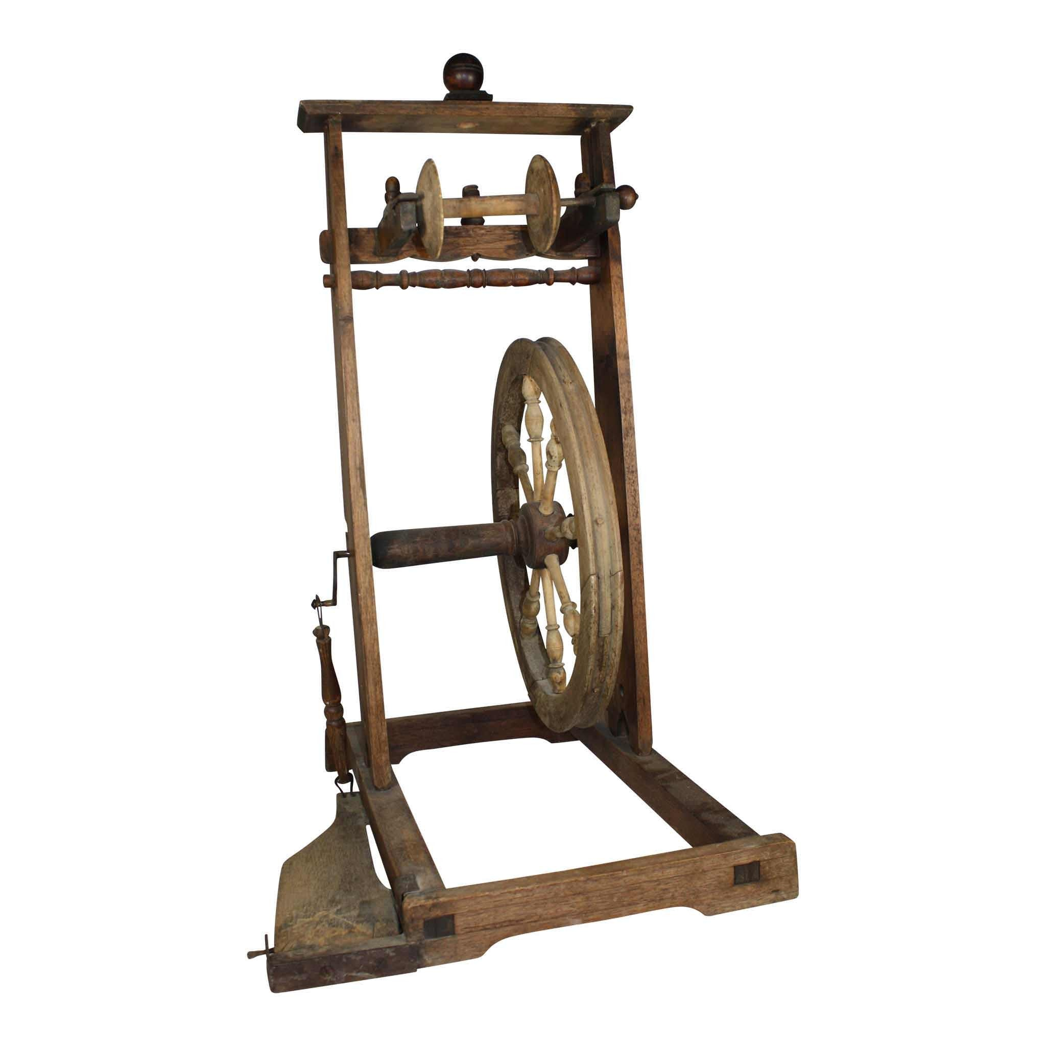 Upright Castle Spinning Wheel