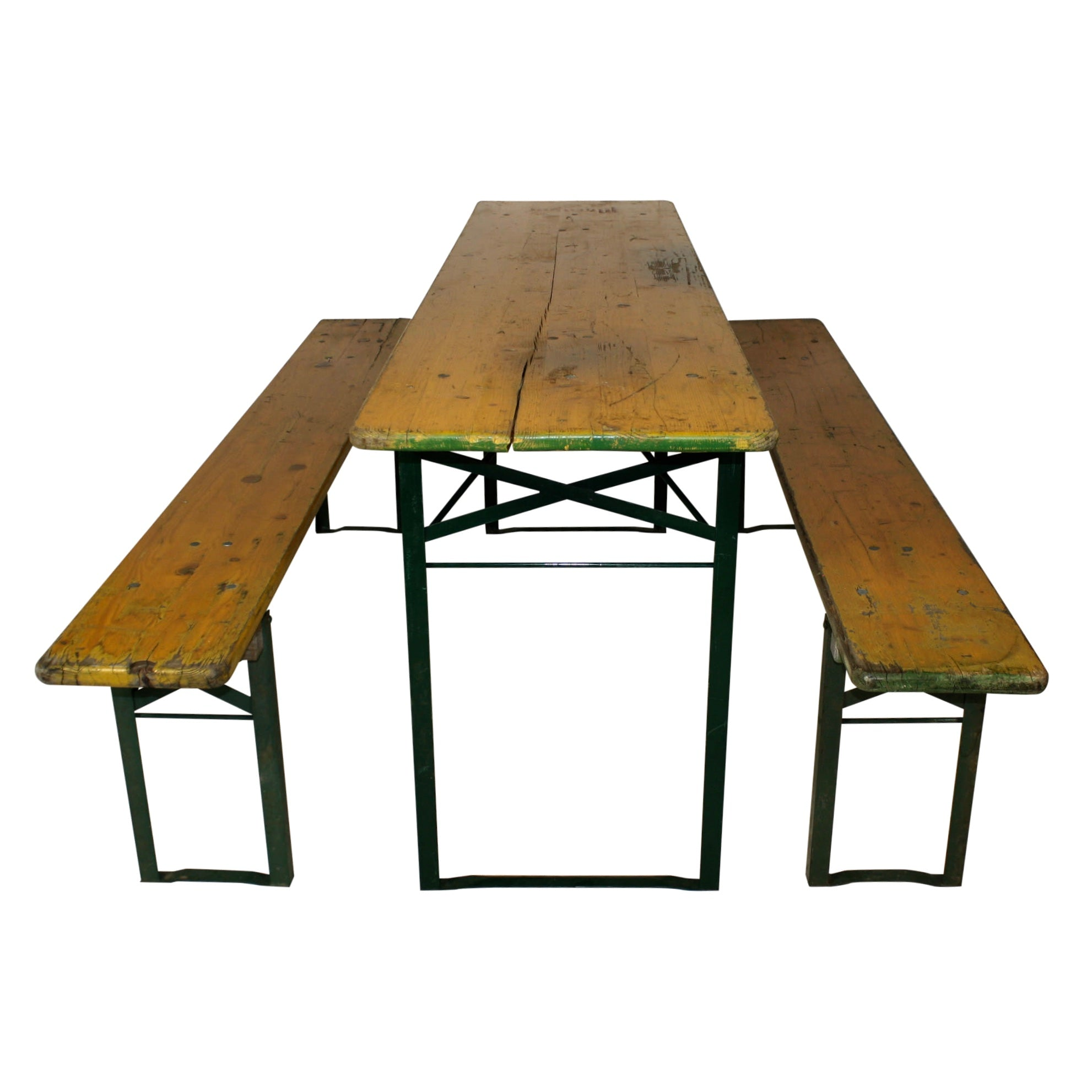 Beer Garden Table with Two Benches