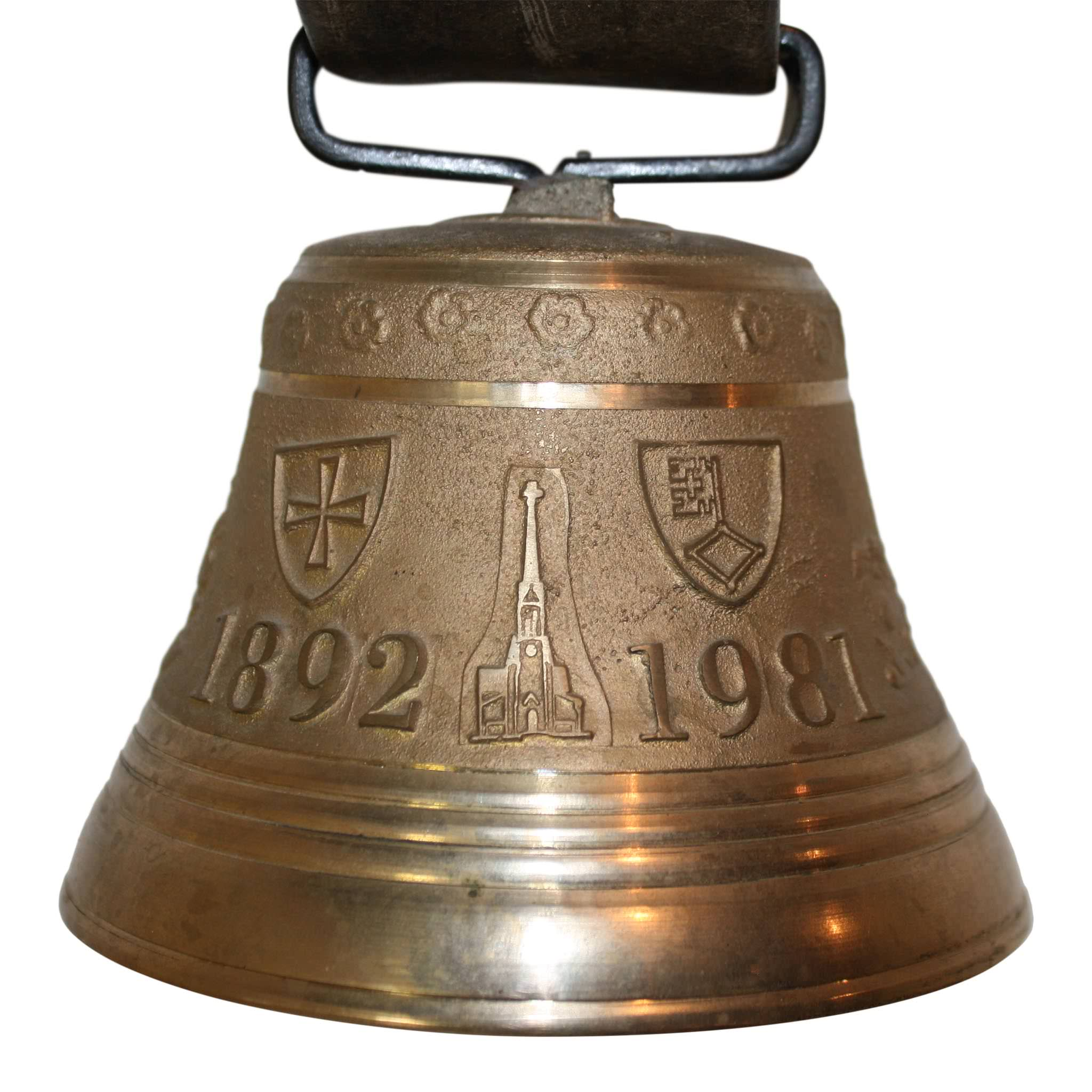 Swiss Bronze Cow Bell Ski Country Antiques Home