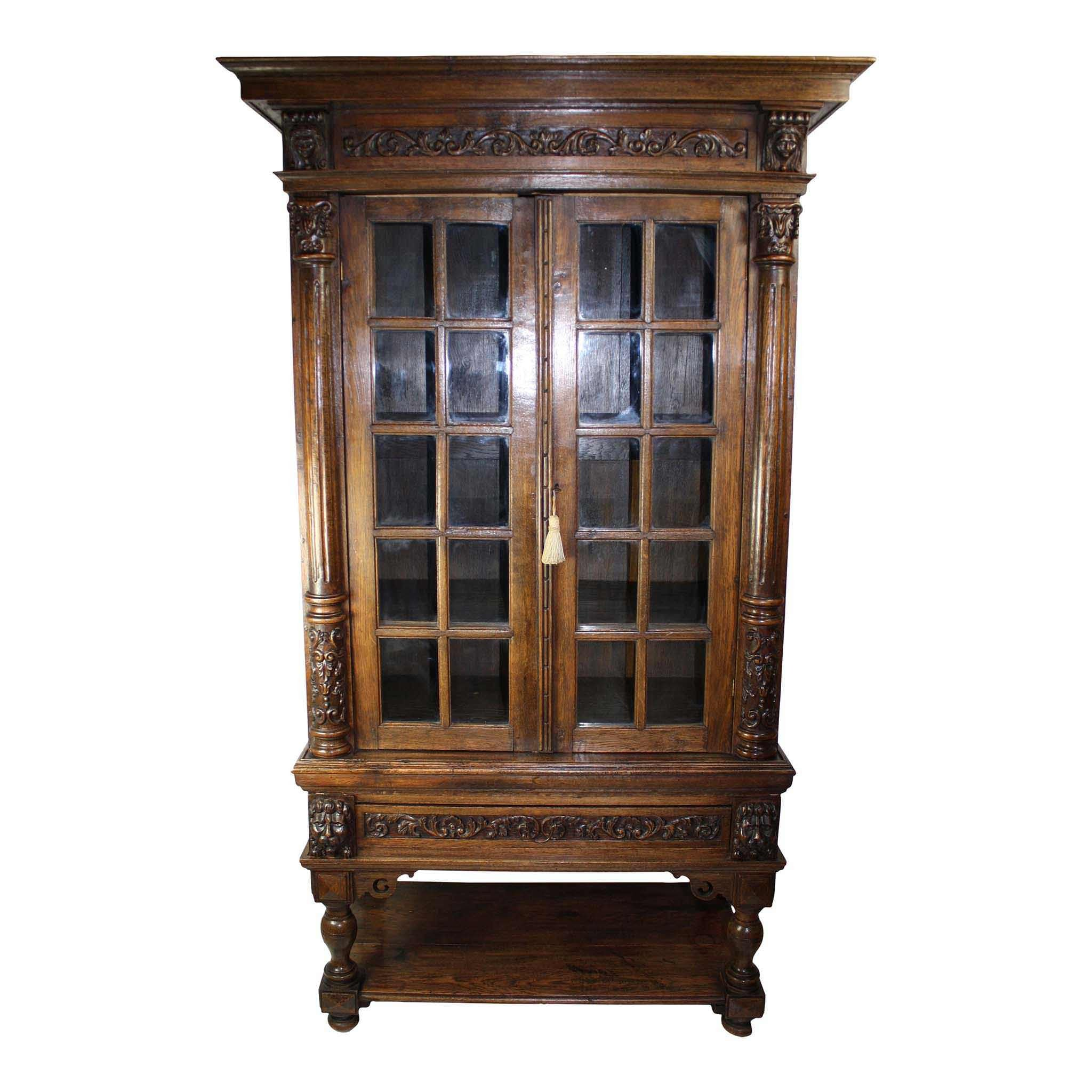 Dutch Cabinet with Glass Doors (1stdibs)