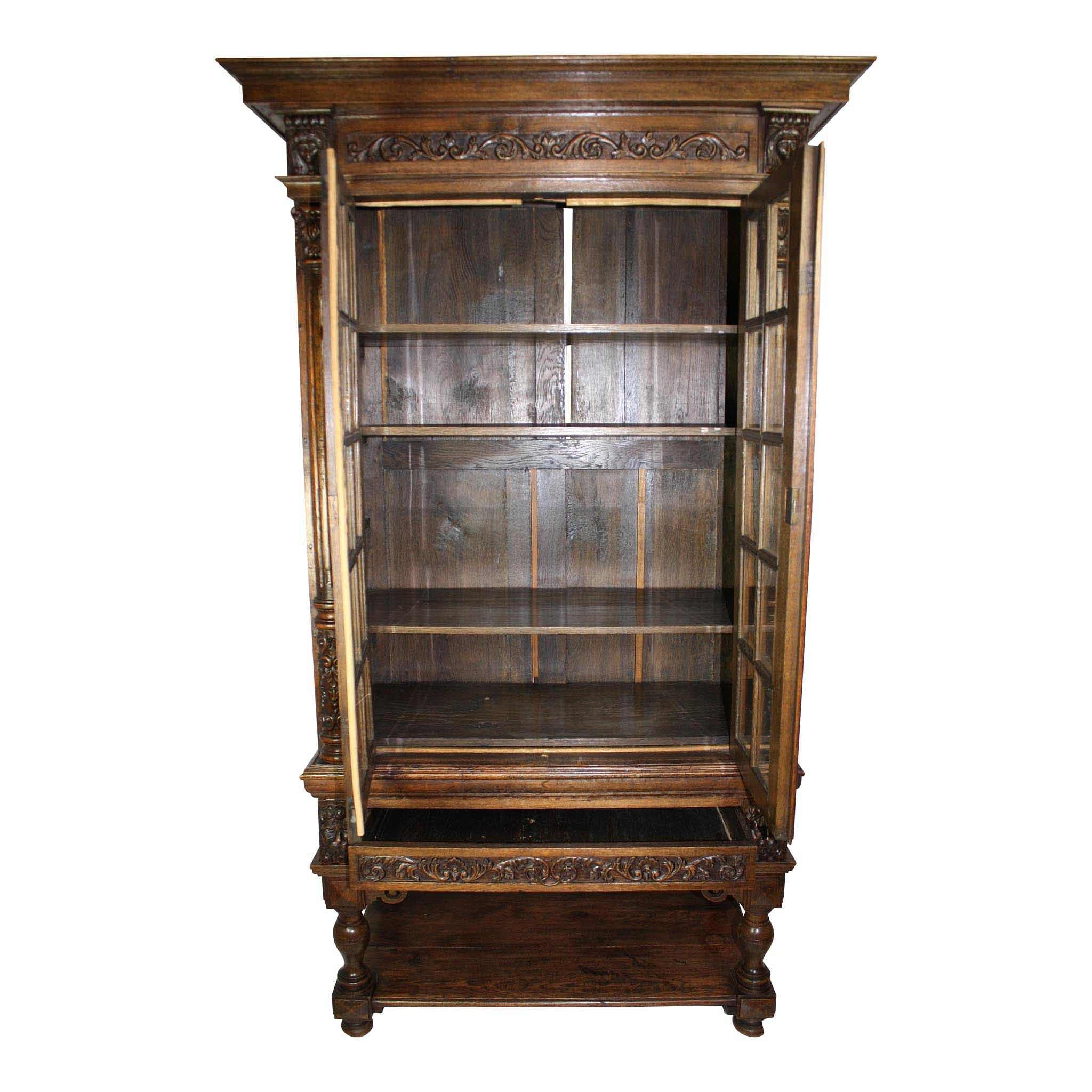 Dutch Cabinet with Glass Doors