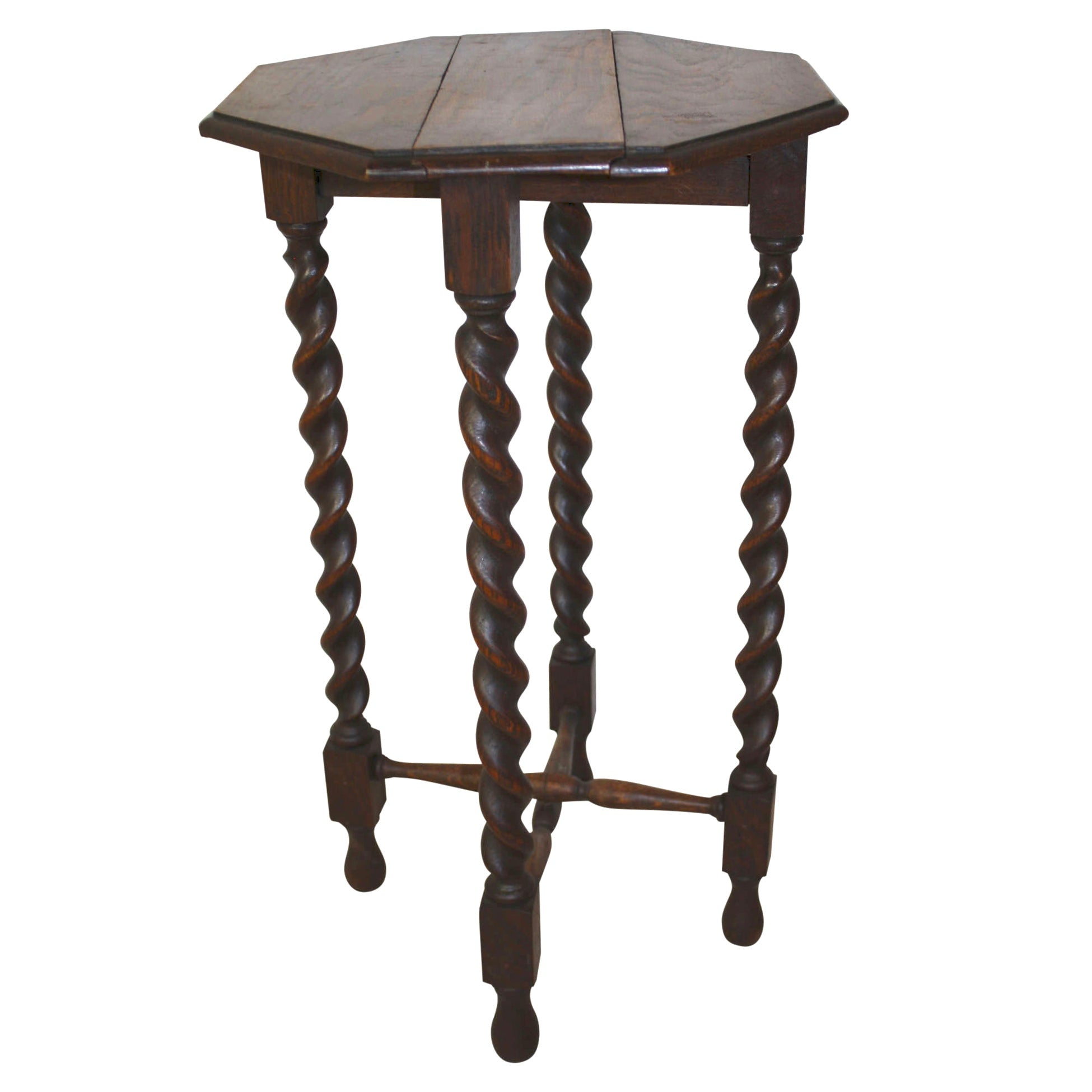 Side Table with Barley Twist Legs