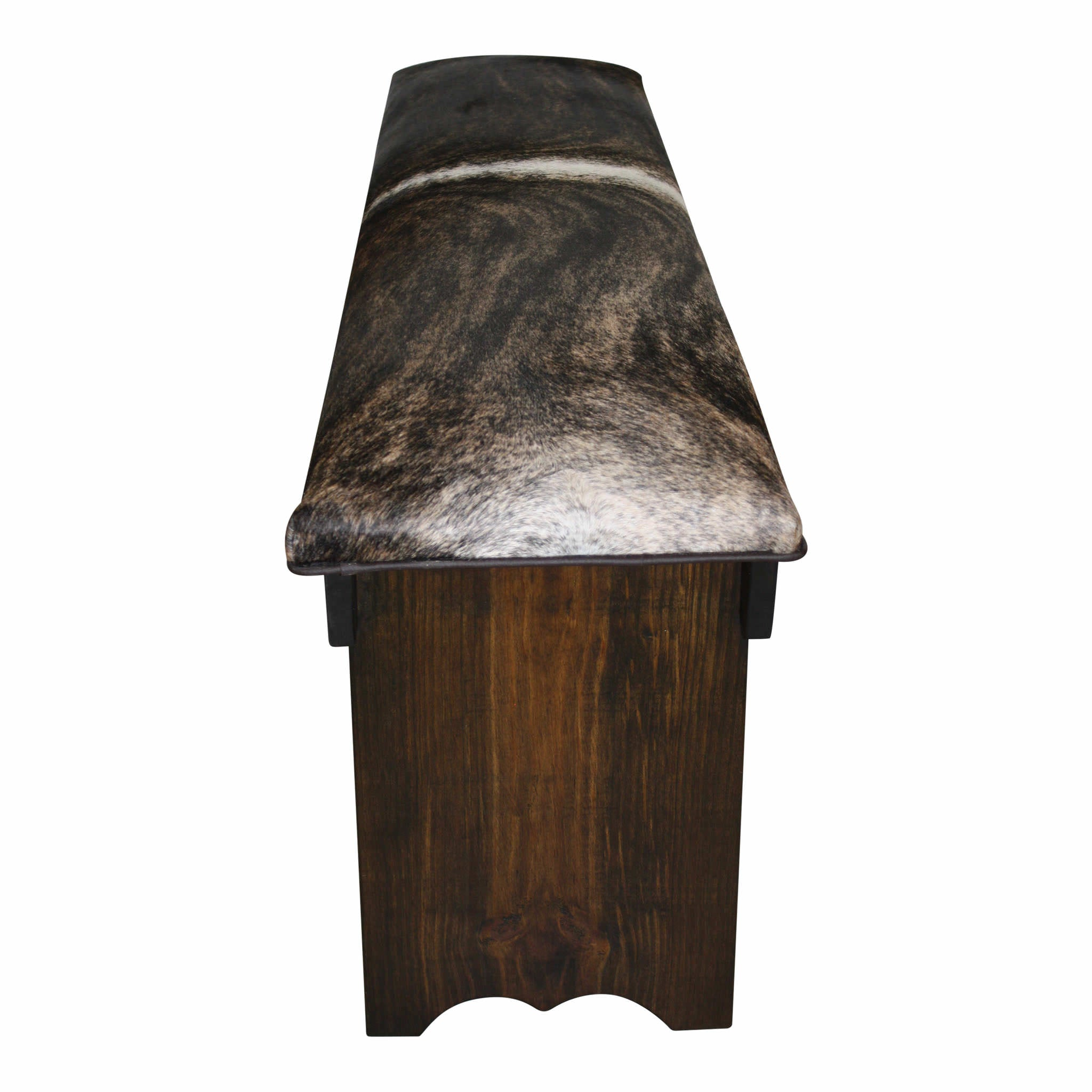 Cowhide Bench with Shelf