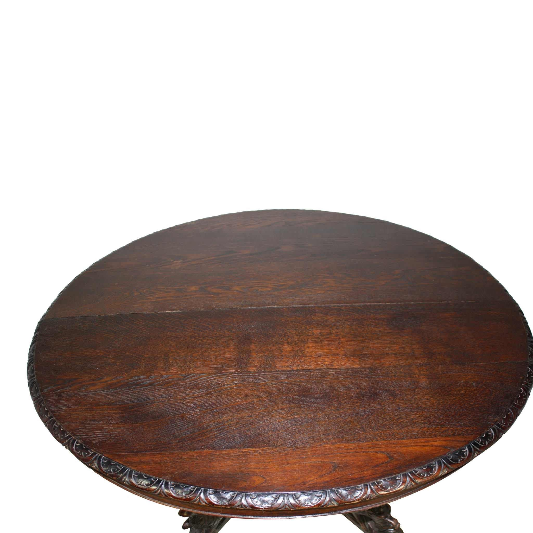 French Oak Hunt Table (1stdibs)