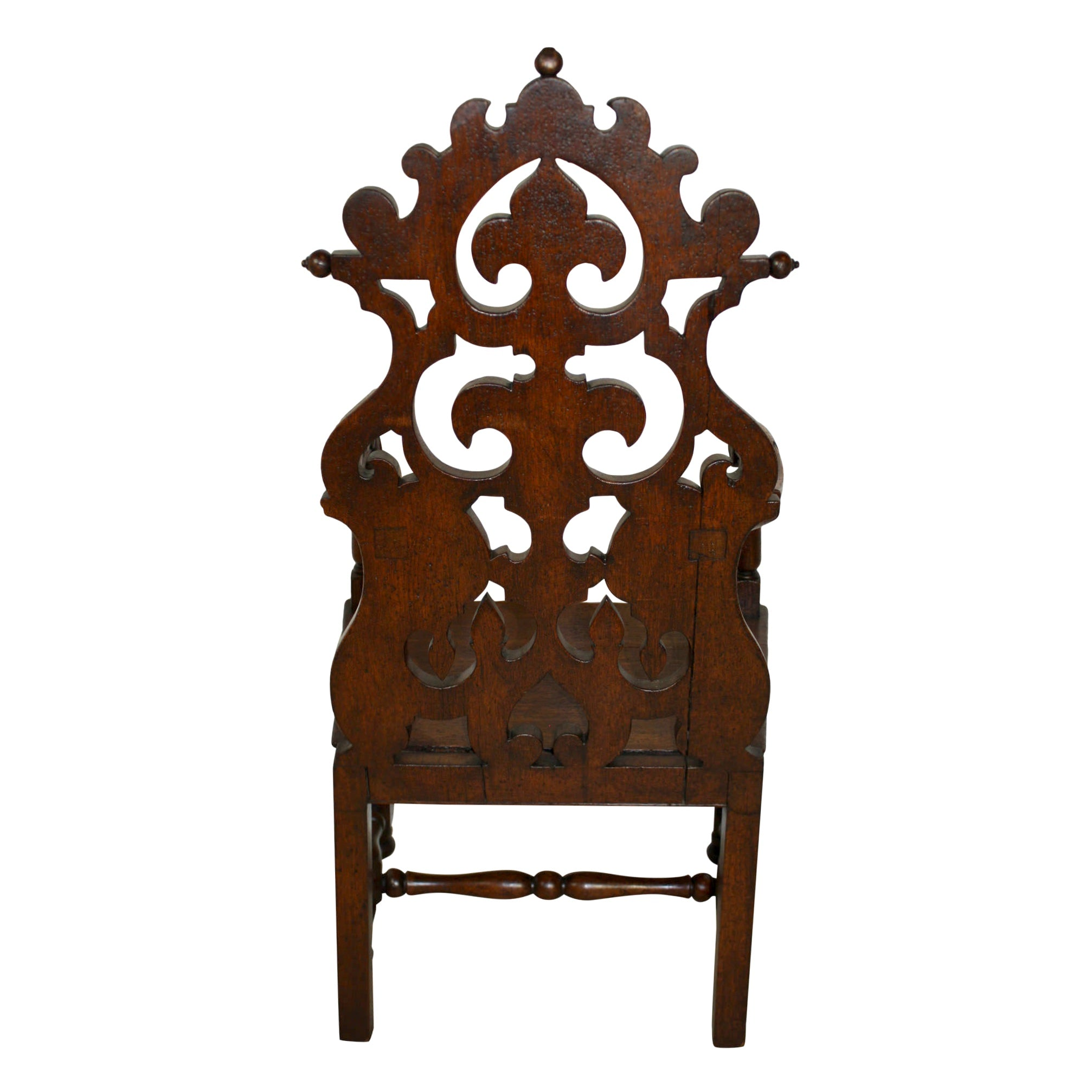 Gothic Revival Carved Armchair