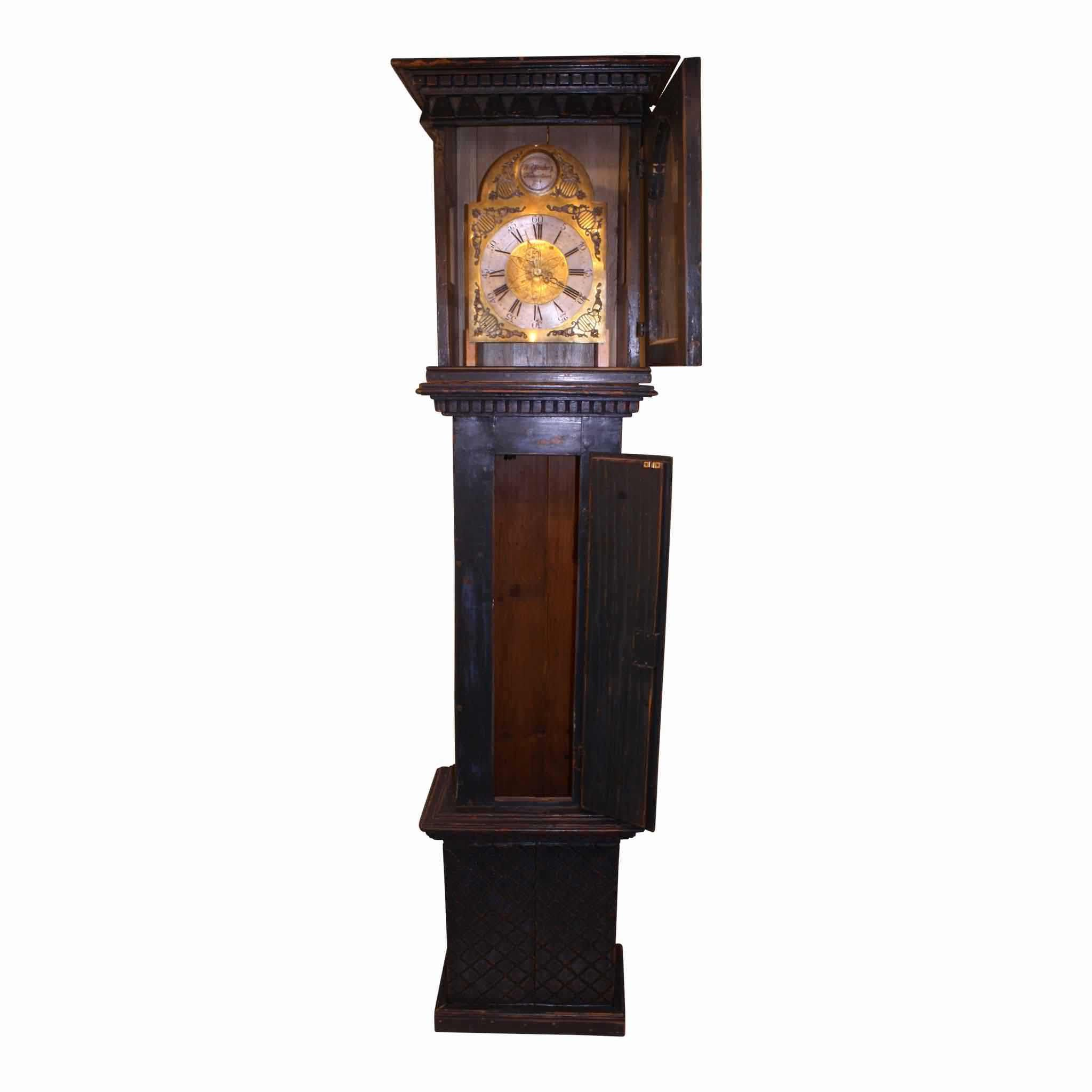 Danish Grandfather Clock Dark Blue