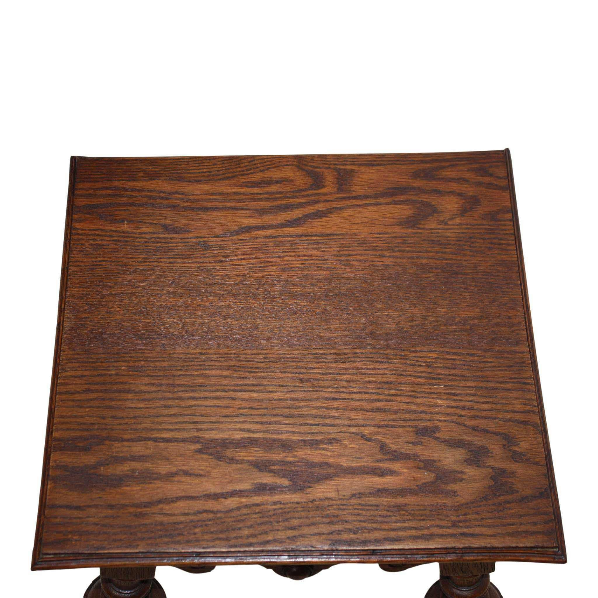 French Oak End Table