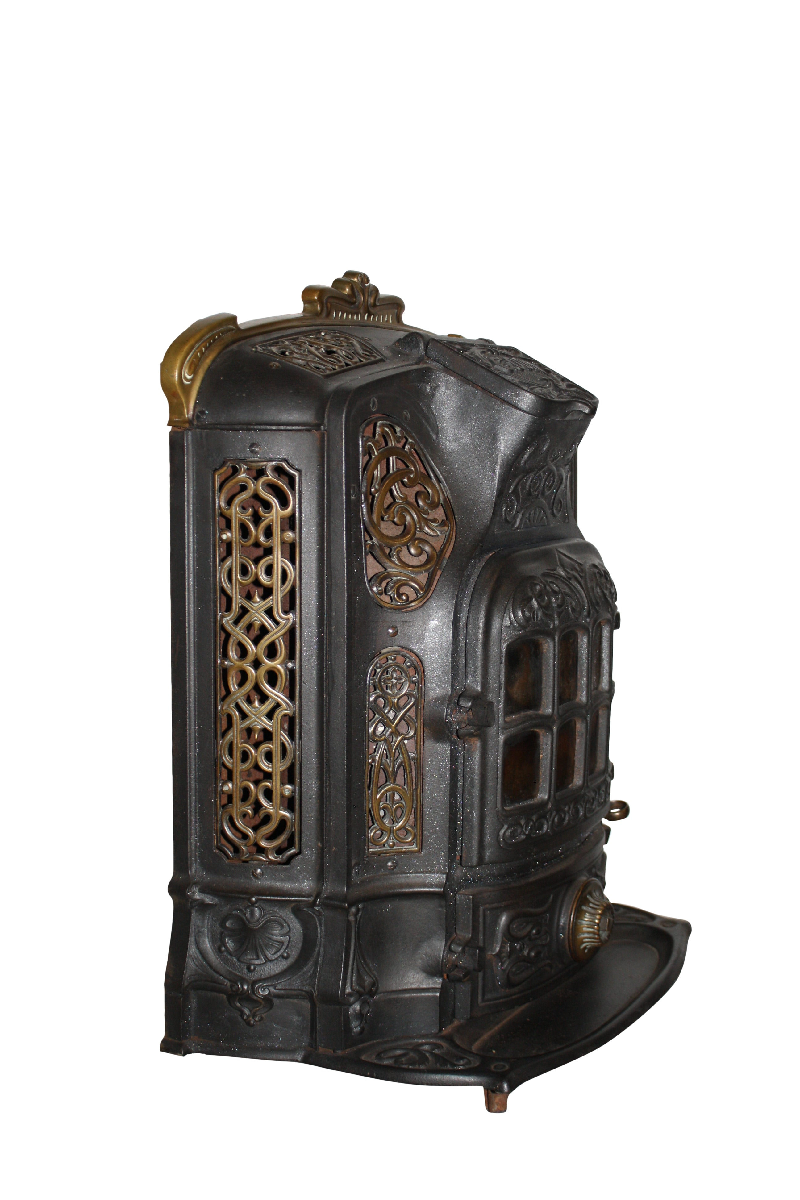 Godin Cast Iron Stove with Brass Accents