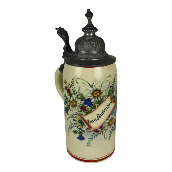 Beer Stein with Edelweiss