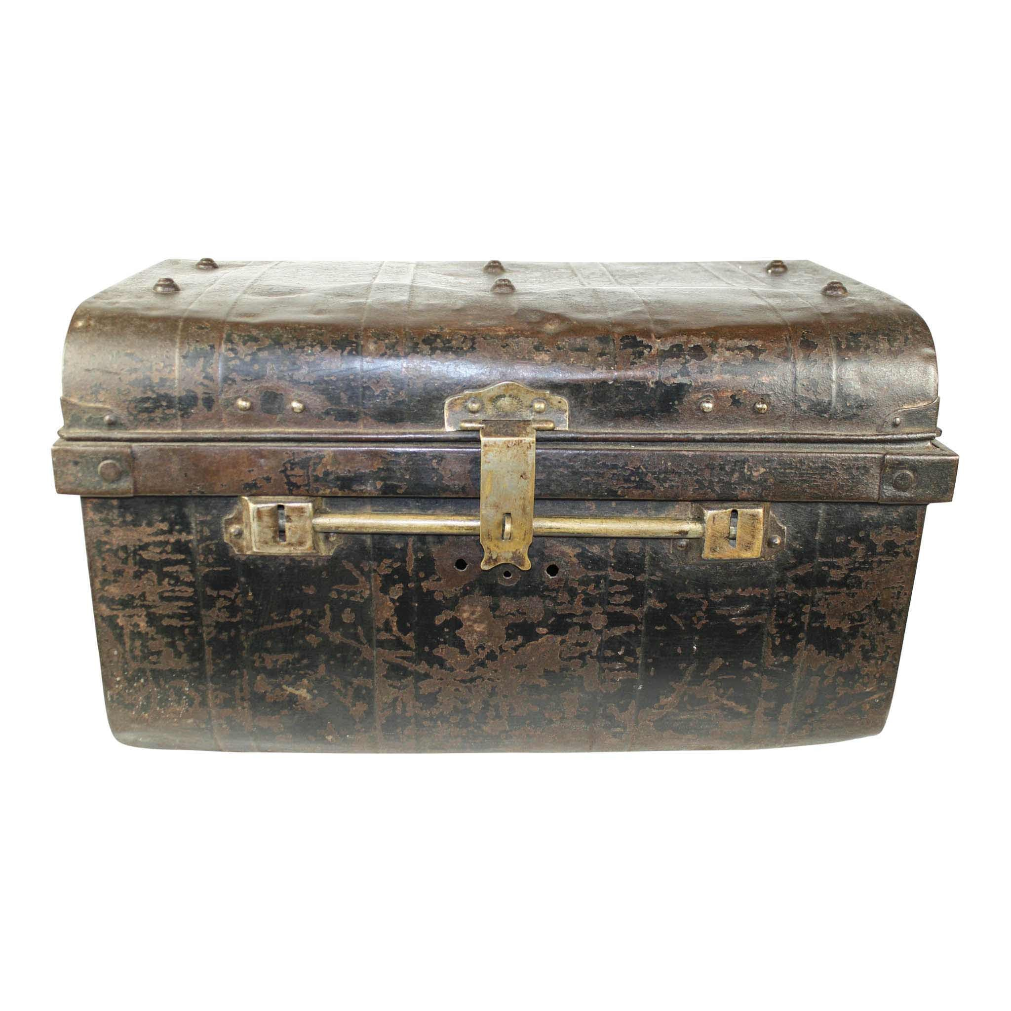 English Steel Luggage Trunk