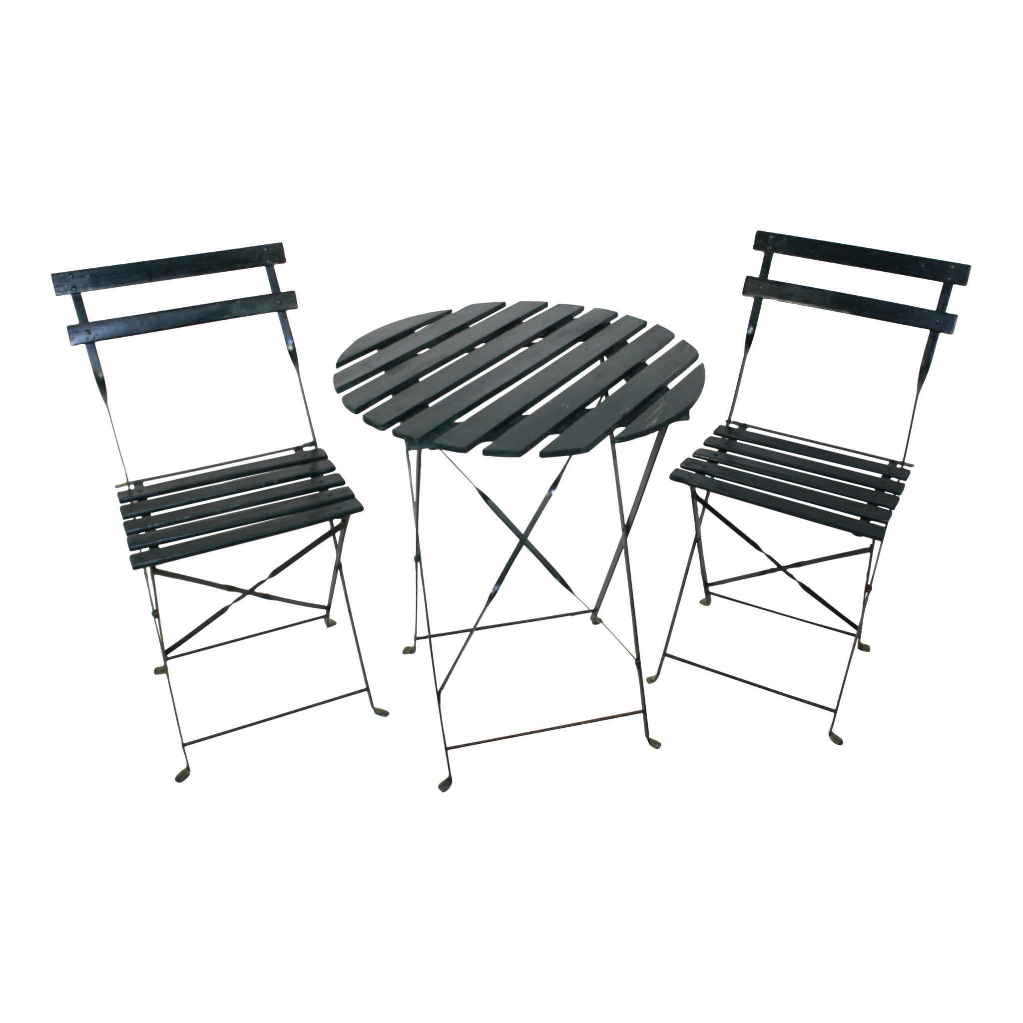 Garden Bistro Table and Chairs Set/3