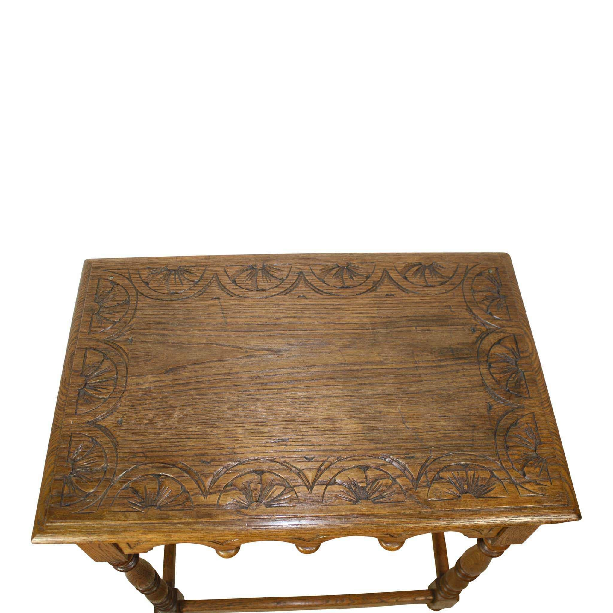 Carved Oak Table