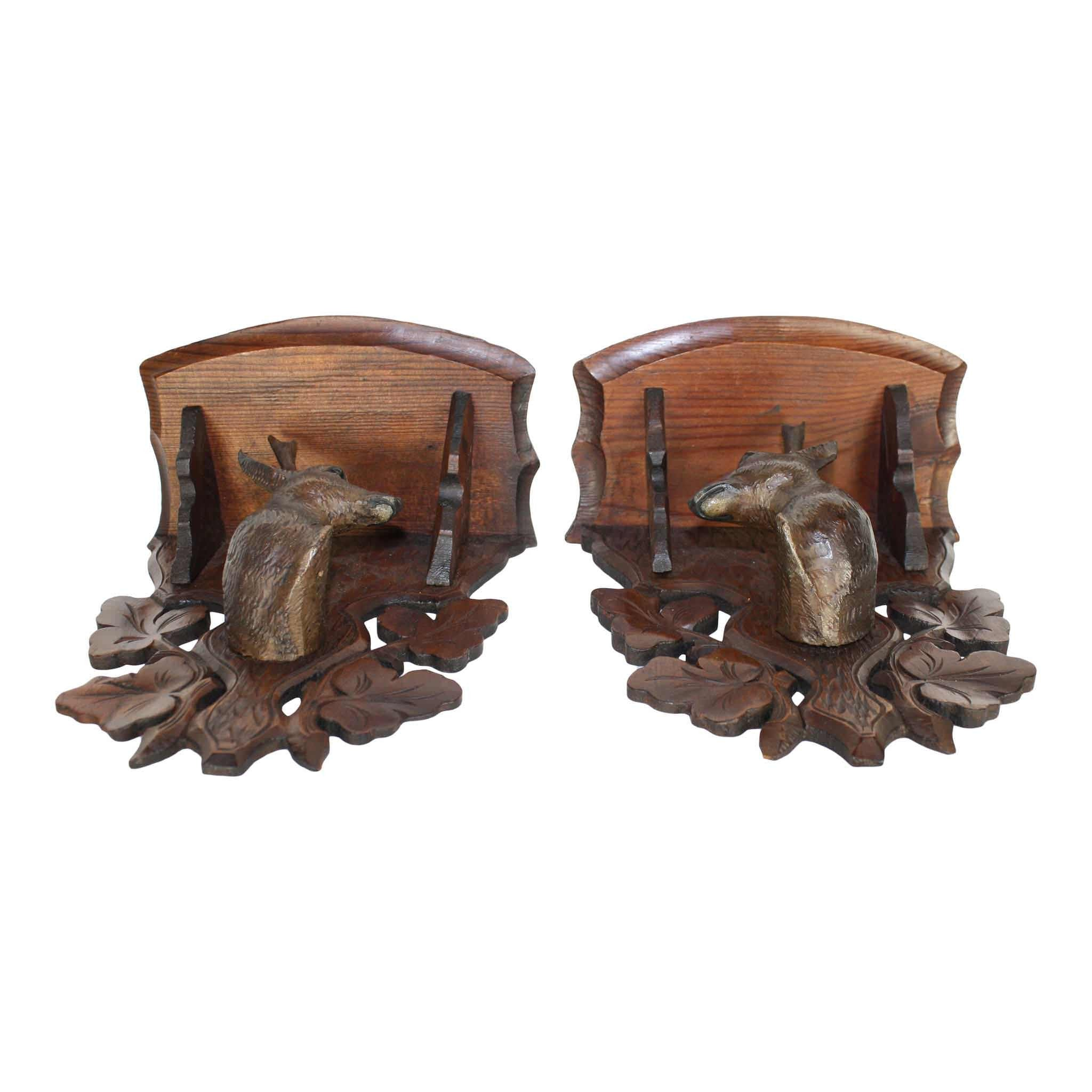 Carved Shelves with Deer Set/2