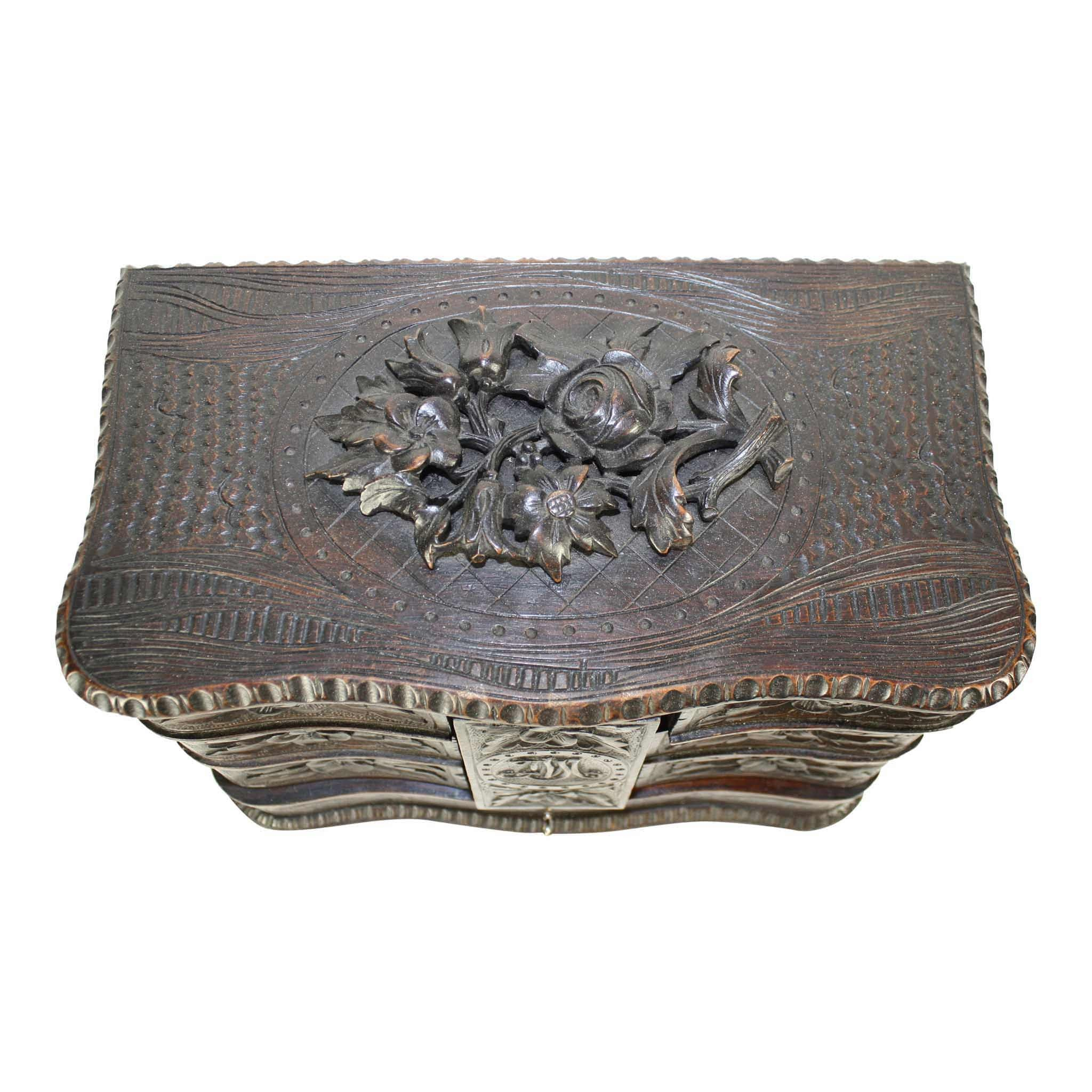 Carved Jewelry Box