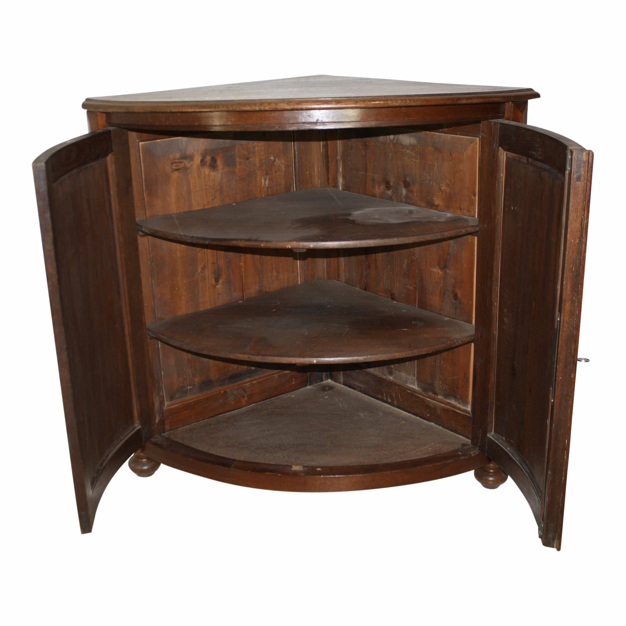 German Bow Front Corner Cabinet