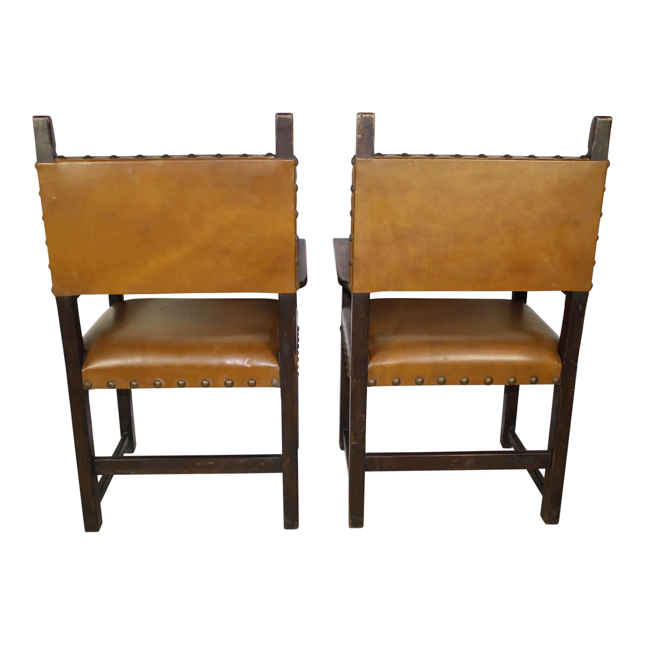 Leather Armchairs Set/2