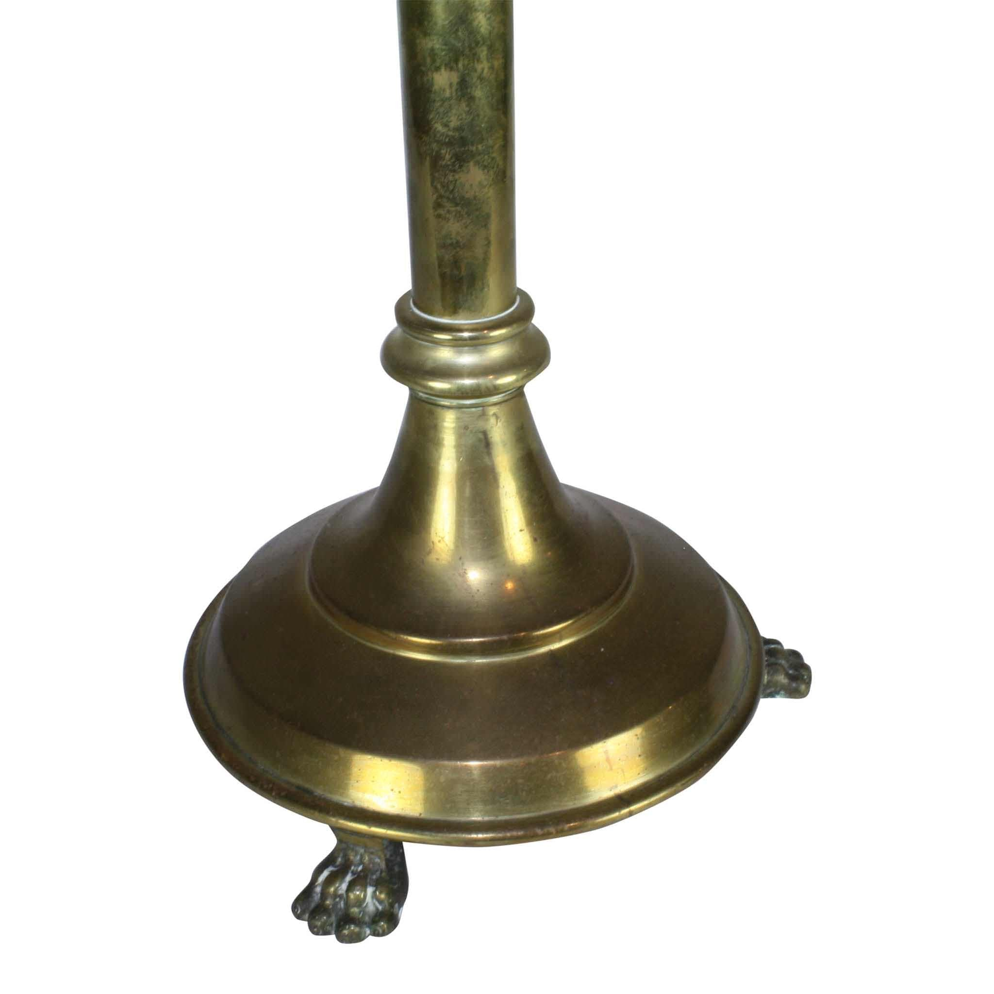 Single Bronze Candlestick with Candle