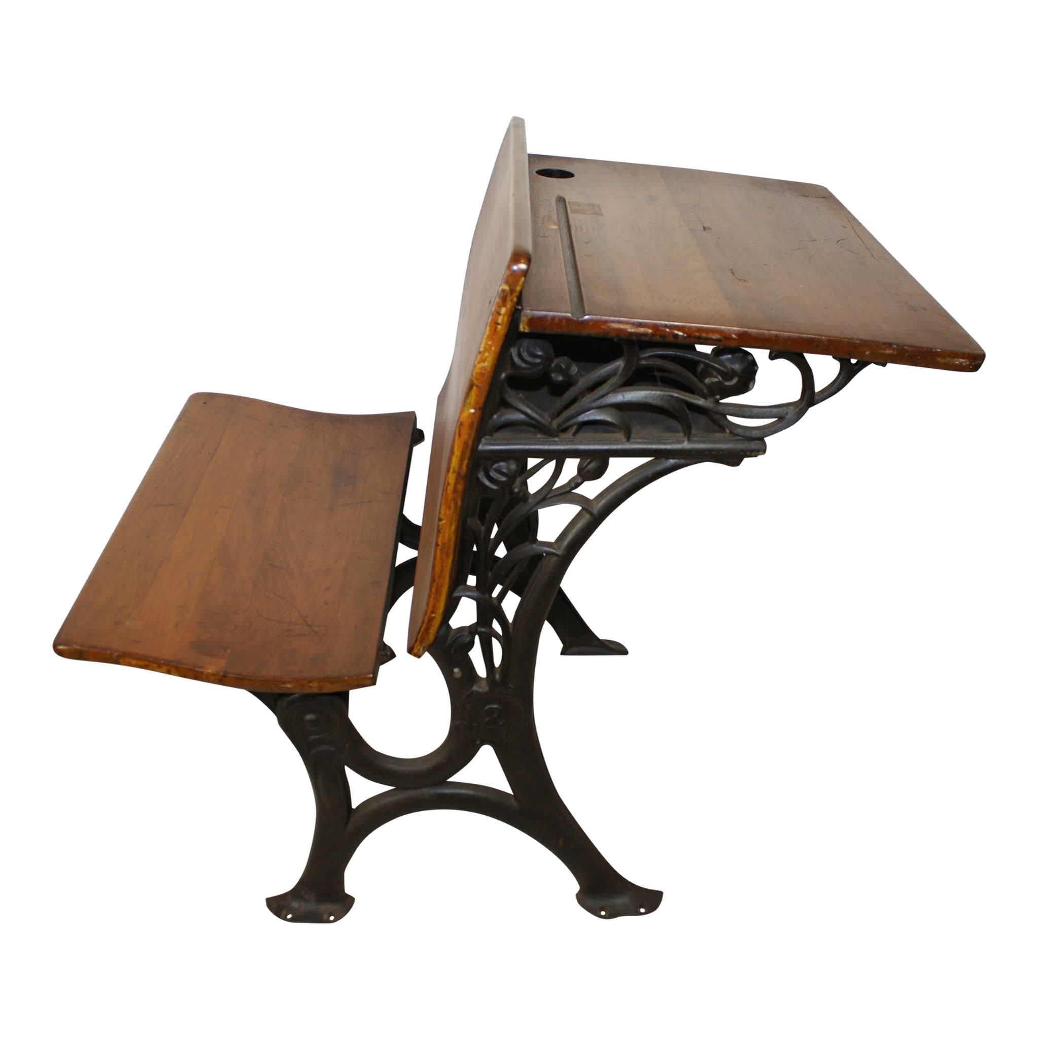 E. H. Stafford Mfg. Co. of Chicago School Desk