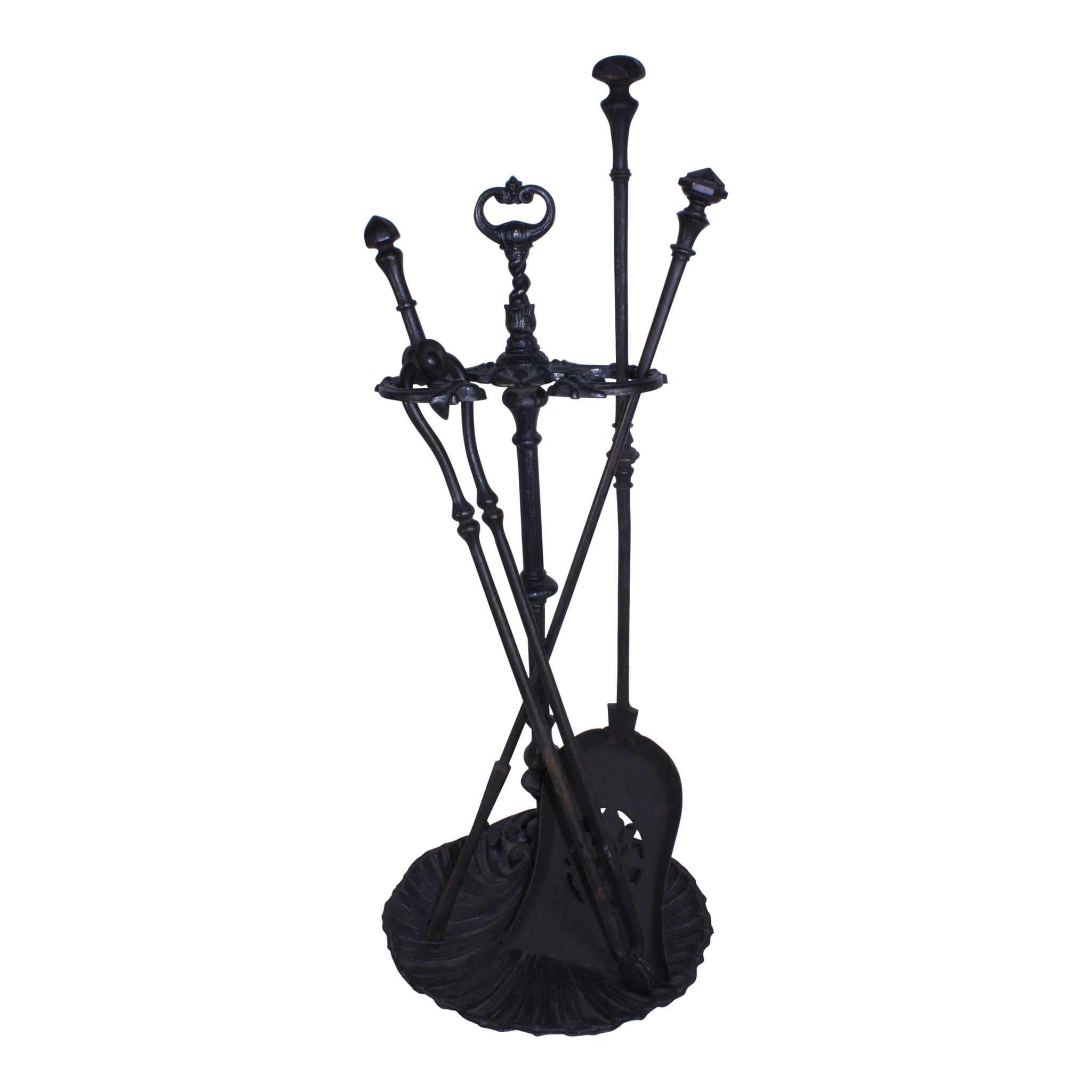Fireplace Tool Set with Stand/4 Piece (1stdibs)
