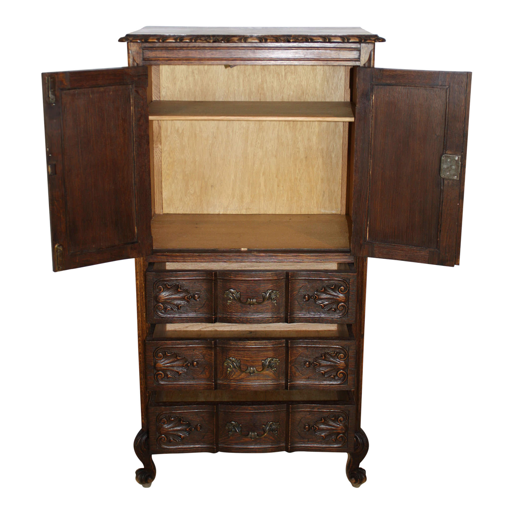 Louis XV Oak Cabinet