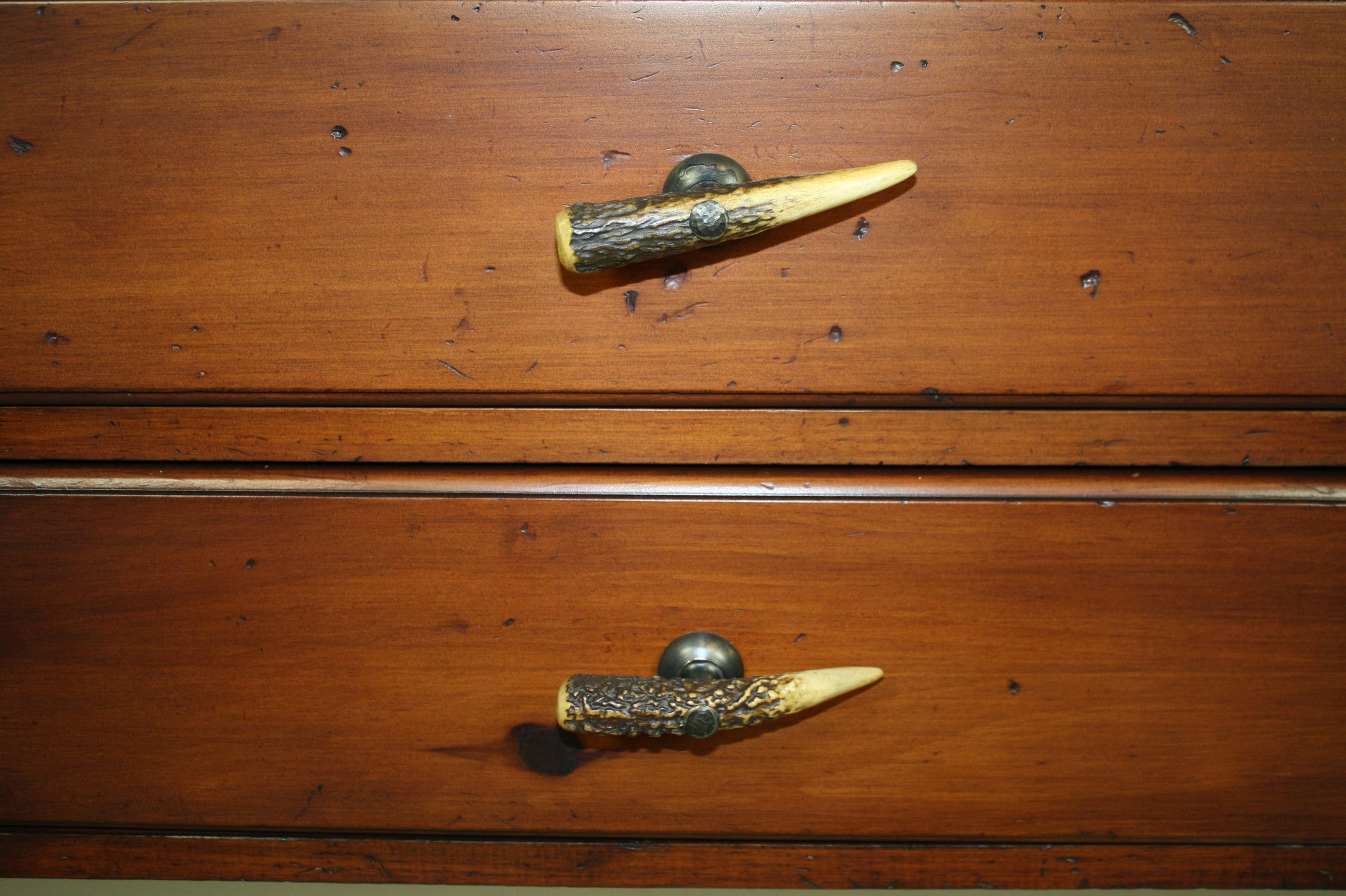 Hutch with Antler Drawer Pulls