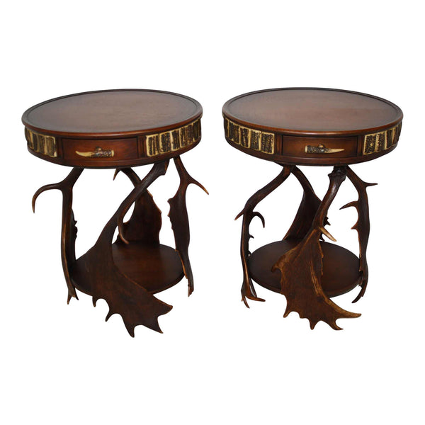 Antler End Tables Set/2