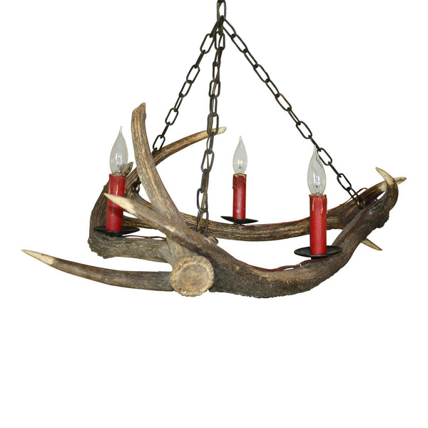 Red Stag Antler Chandelier
