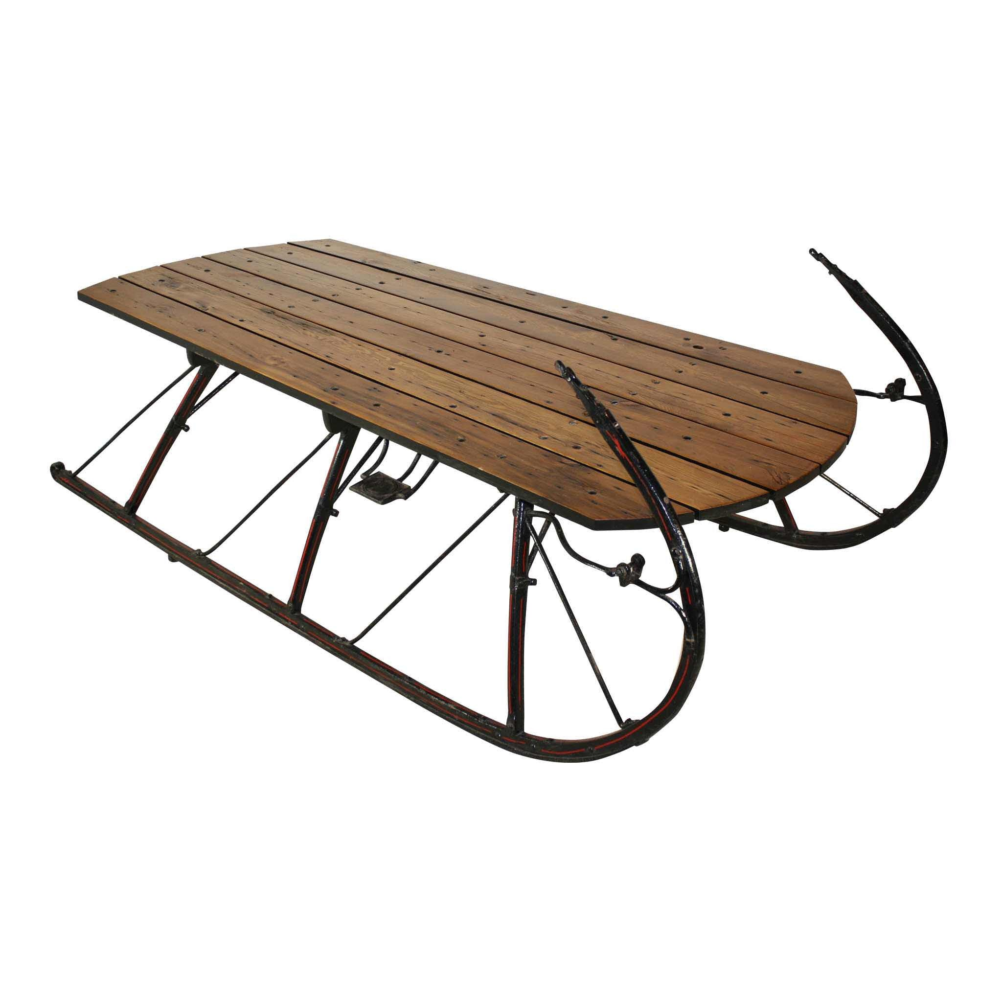 Large Sleigh Coffee Table Ski Country Antiques Home