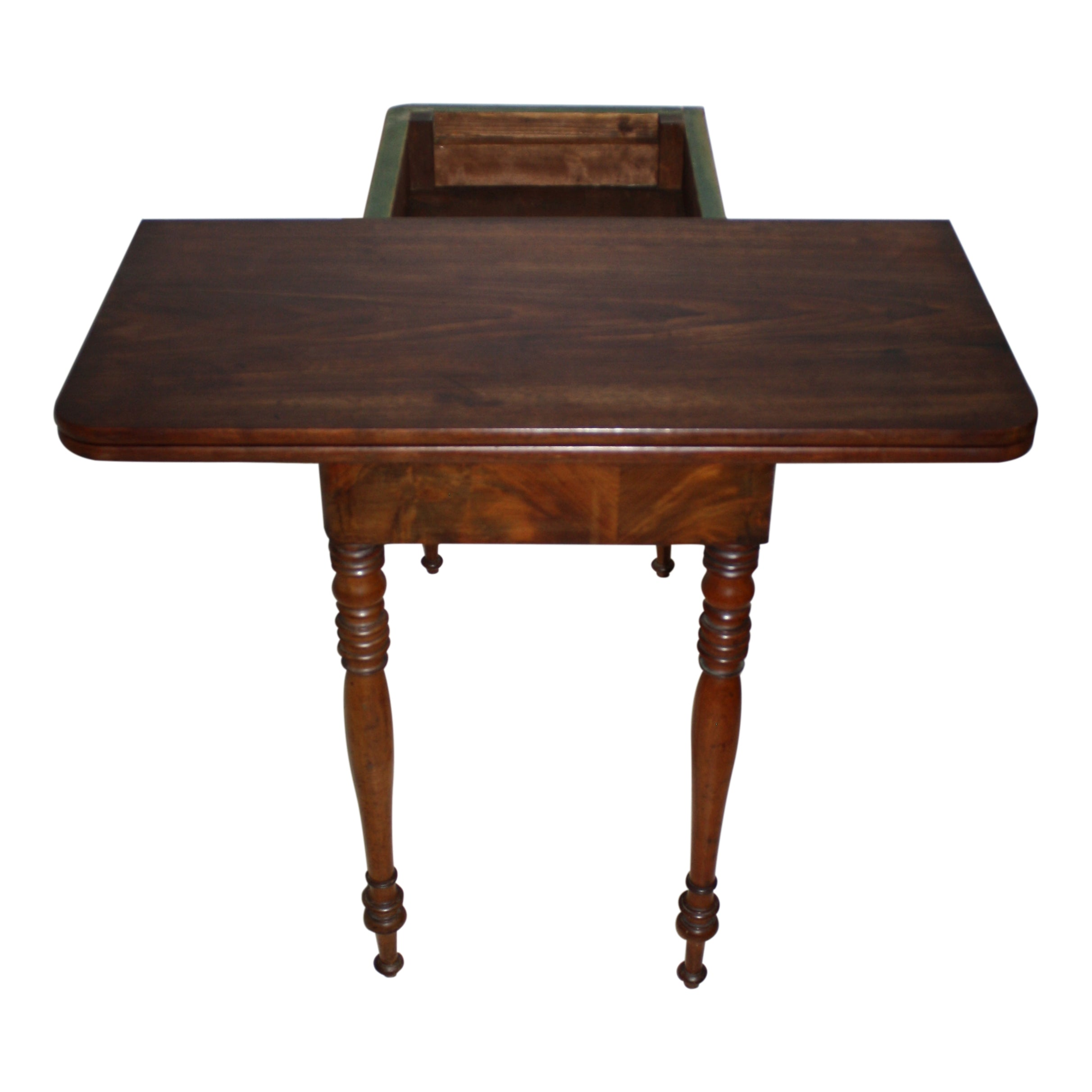 Mahogany Fold-Over Game Table