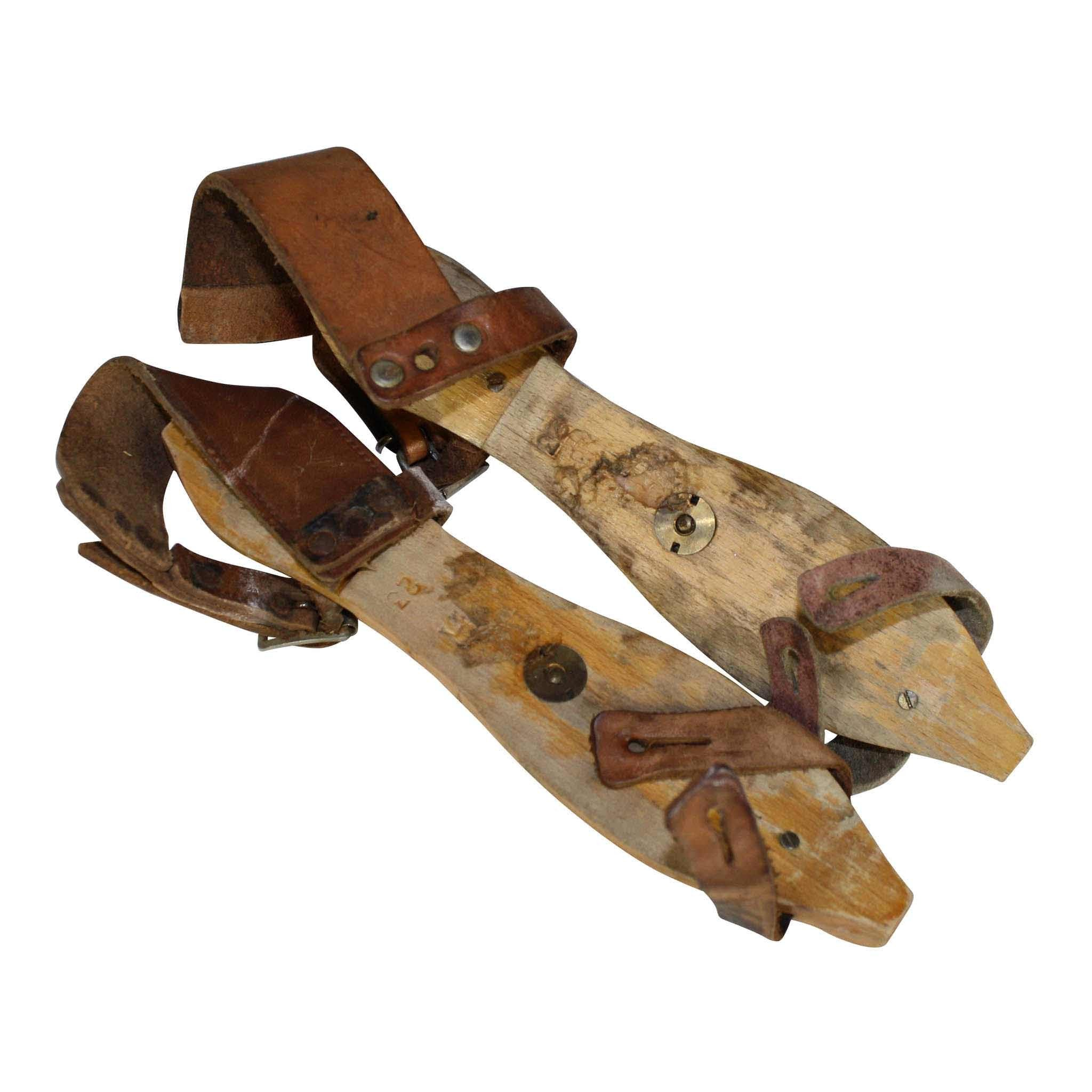 Dutch Wooden Ice Skates