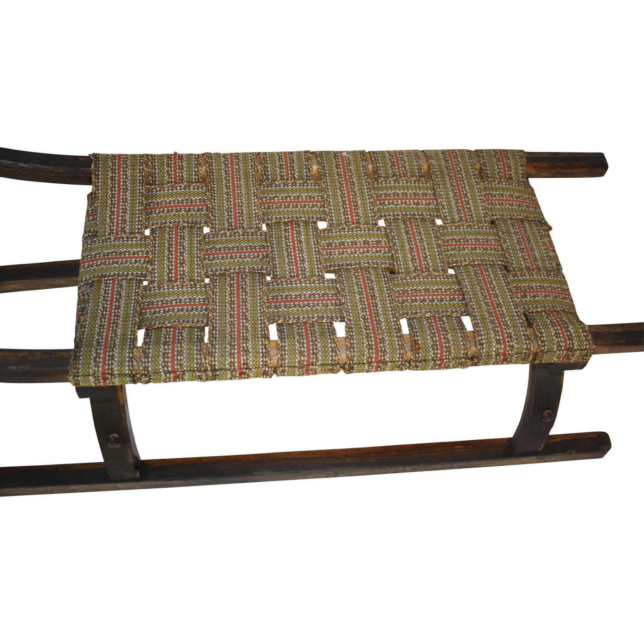 Sled with Woven Seat