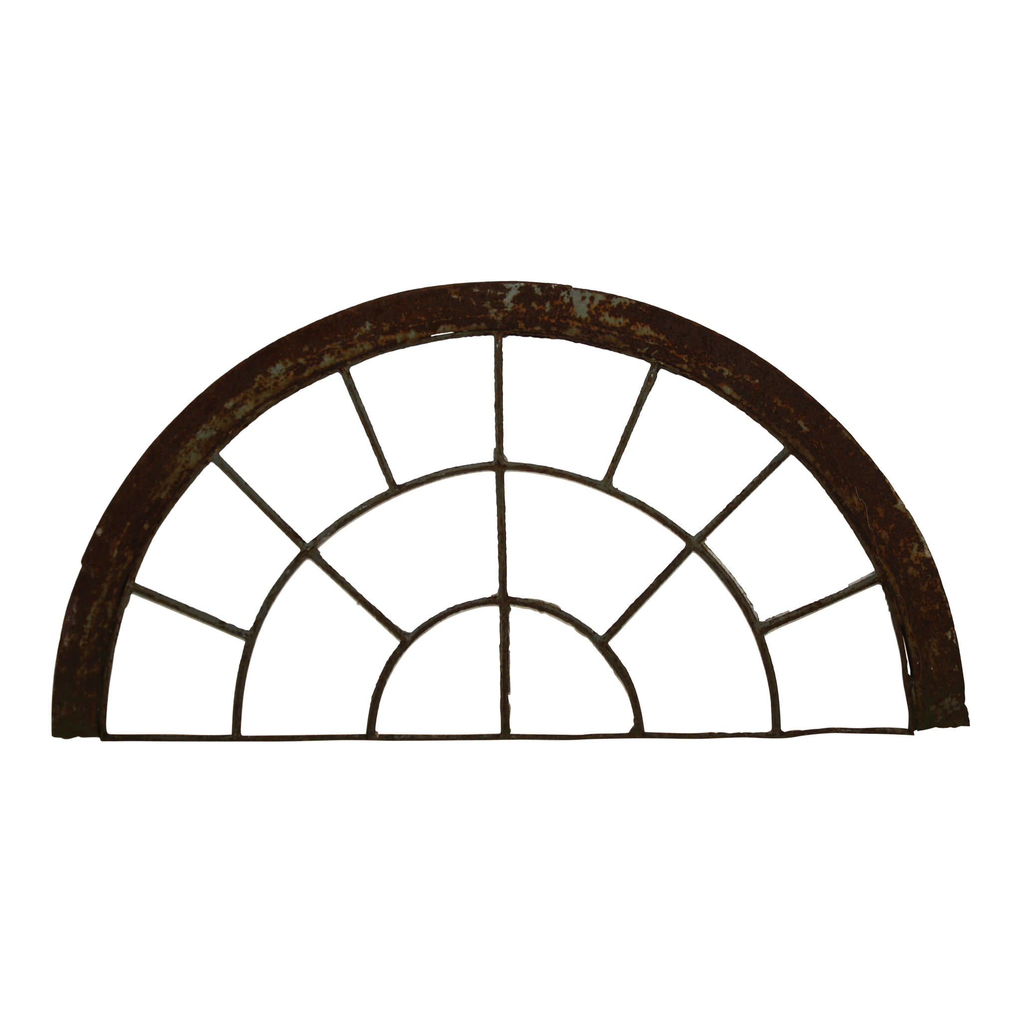 Arched Iron Window Frame