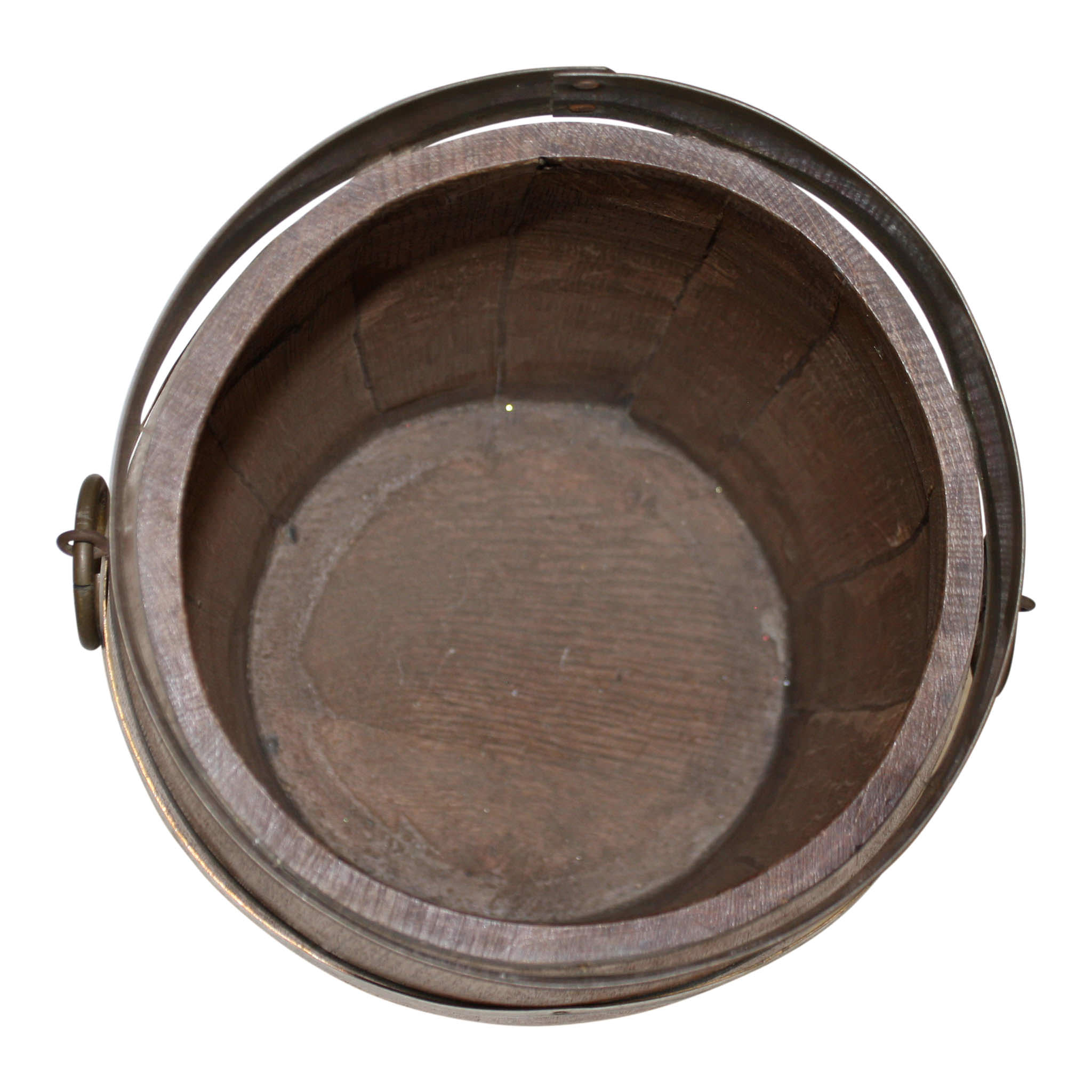 Dutch Oak and Brass Barrel Bucket