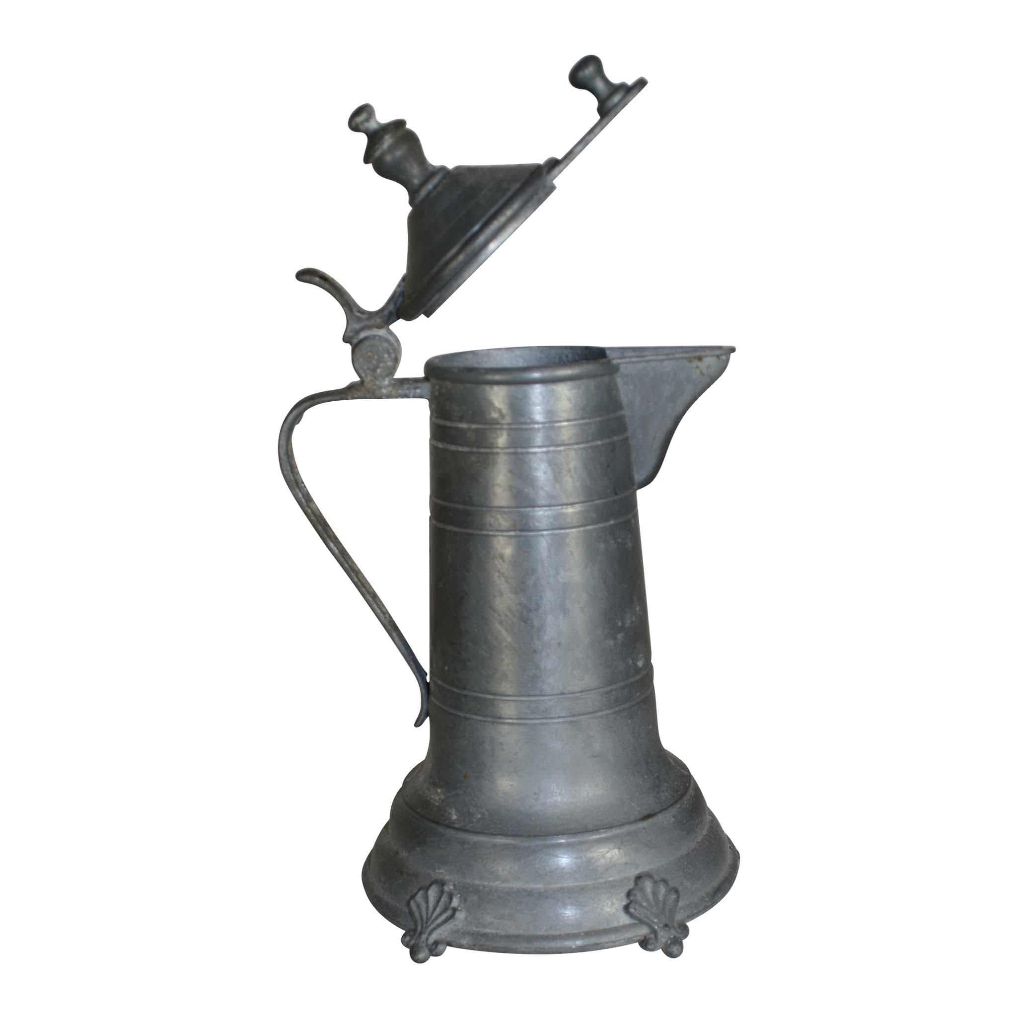 Ornate Pewter Pitcher