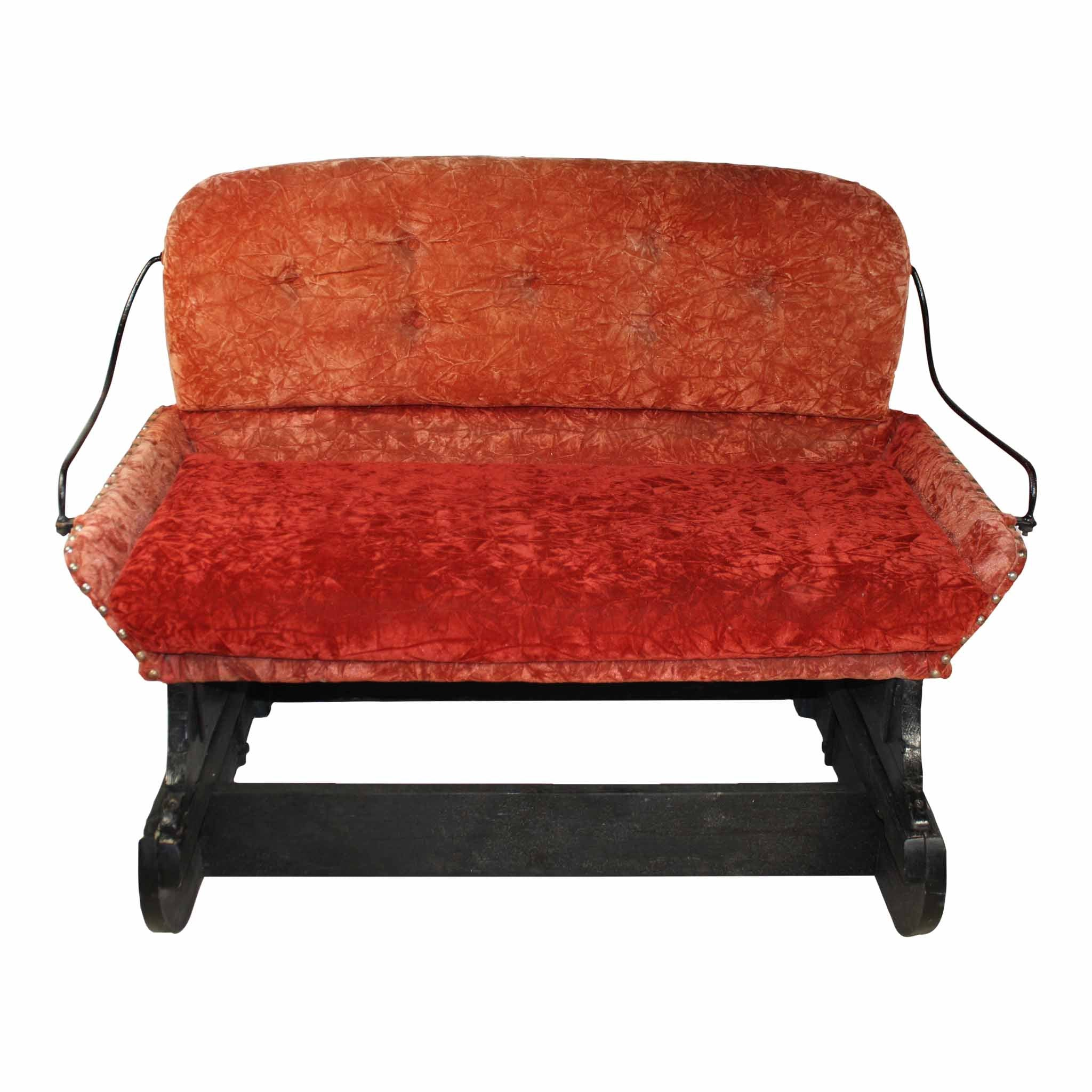 Sleigh Seat Bench-Red