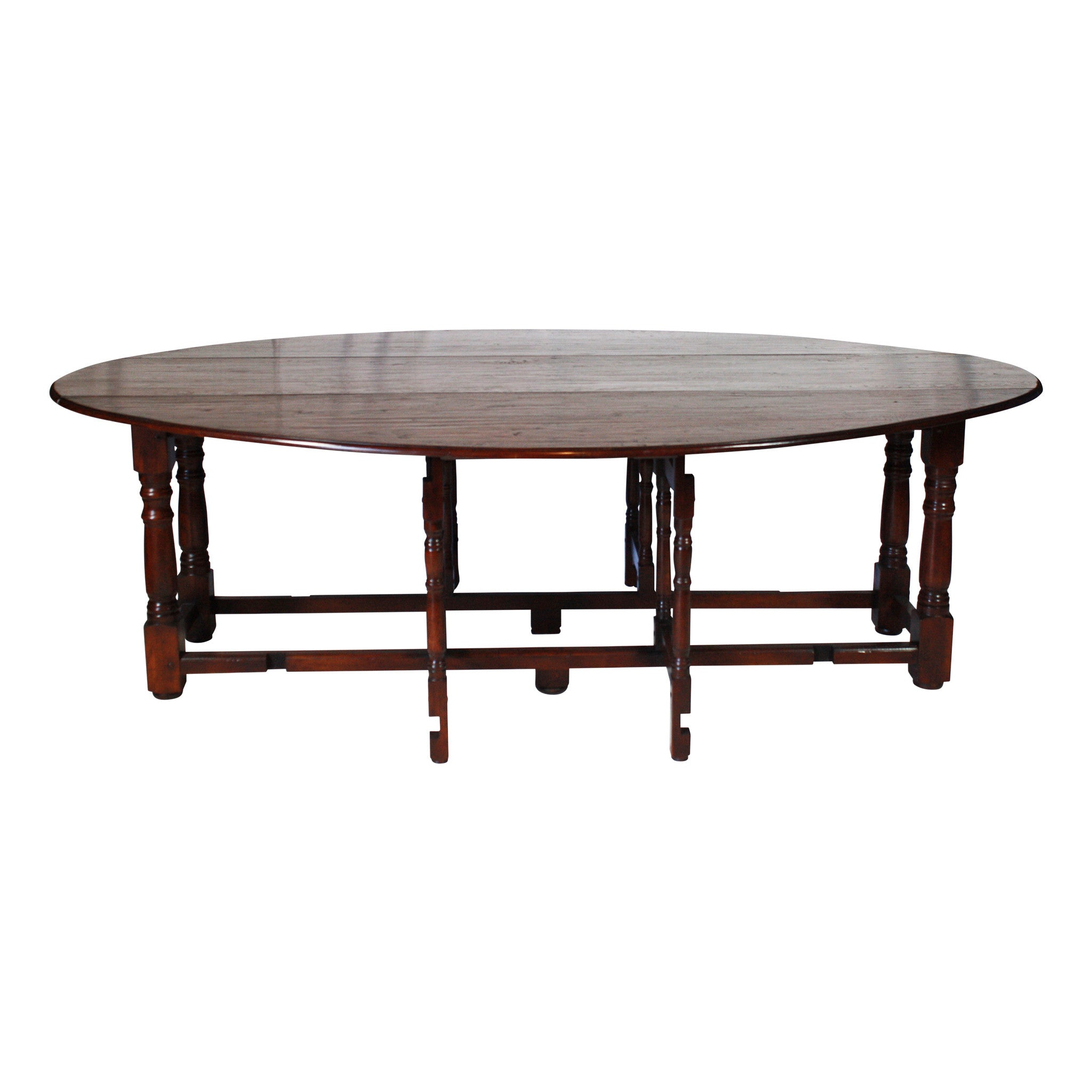 Oak Gate Leg Table (1stdibs)