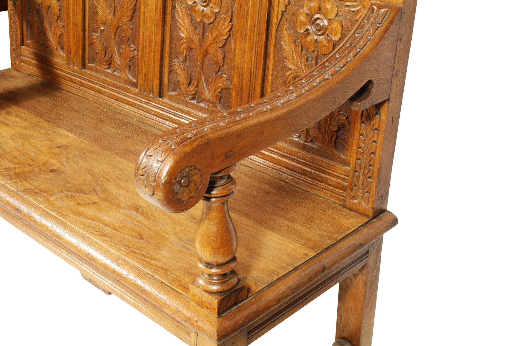 ski-country-antiques - English Oak Bench