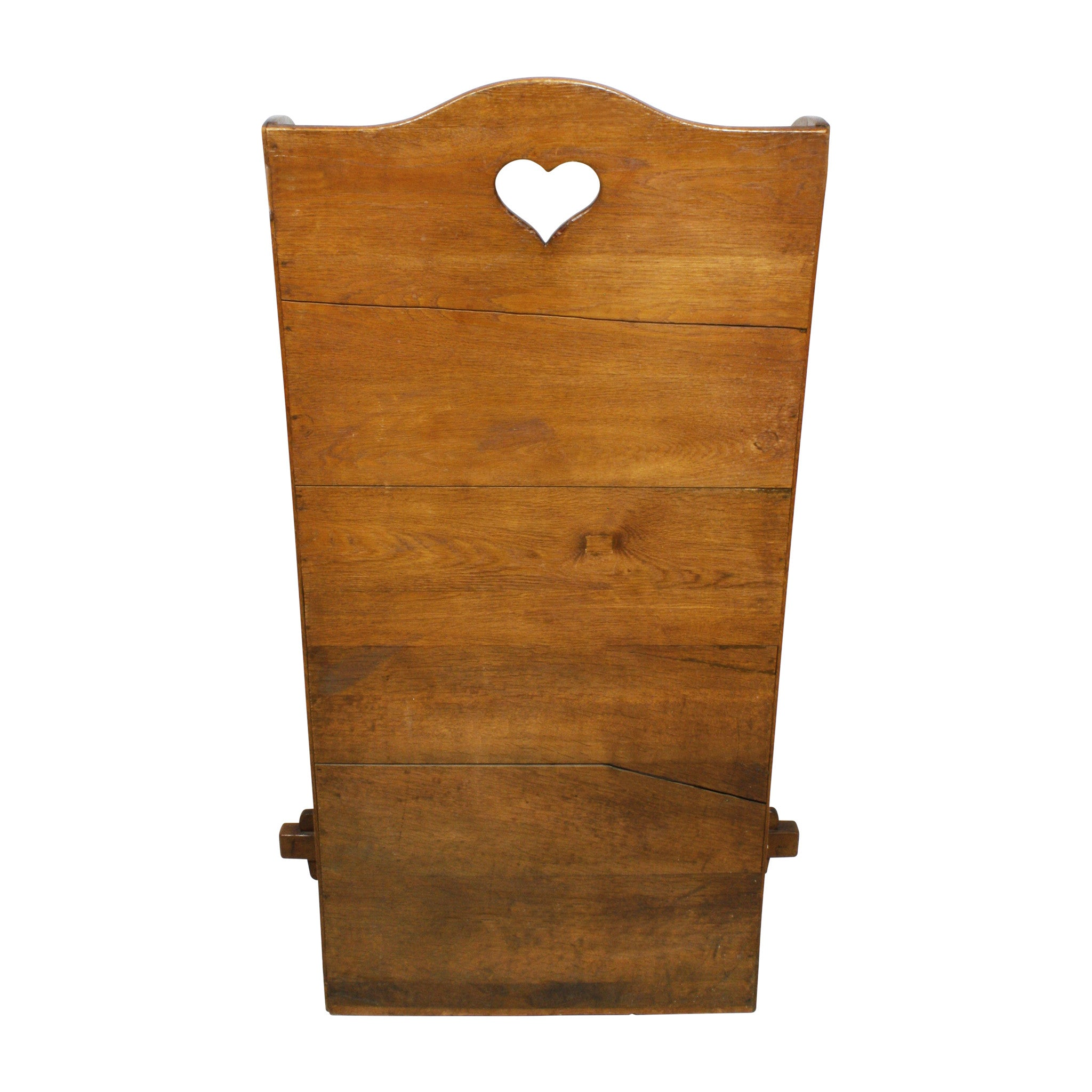 English Oak Highback Chair with Heart