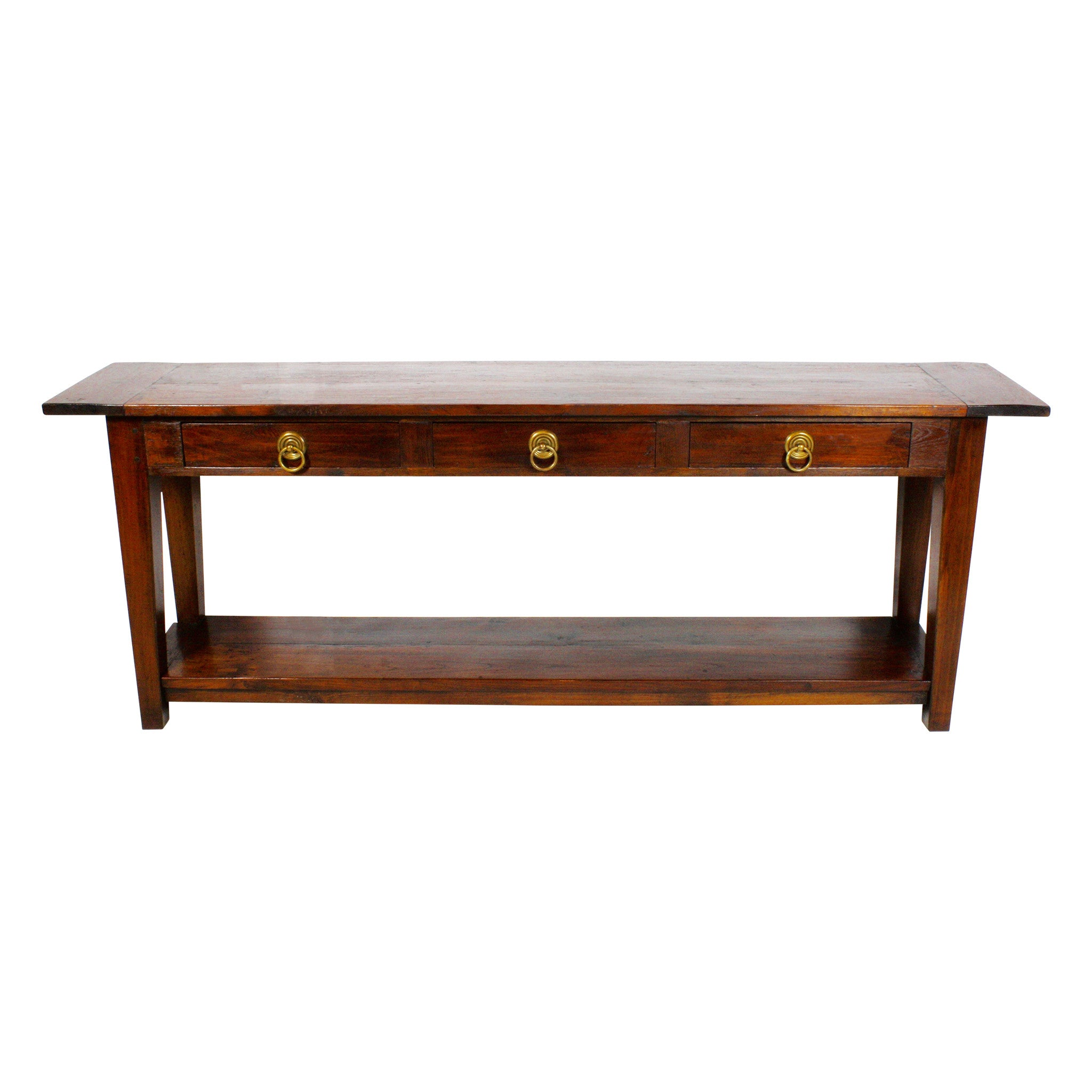 Hand Hewn Oak Console Table