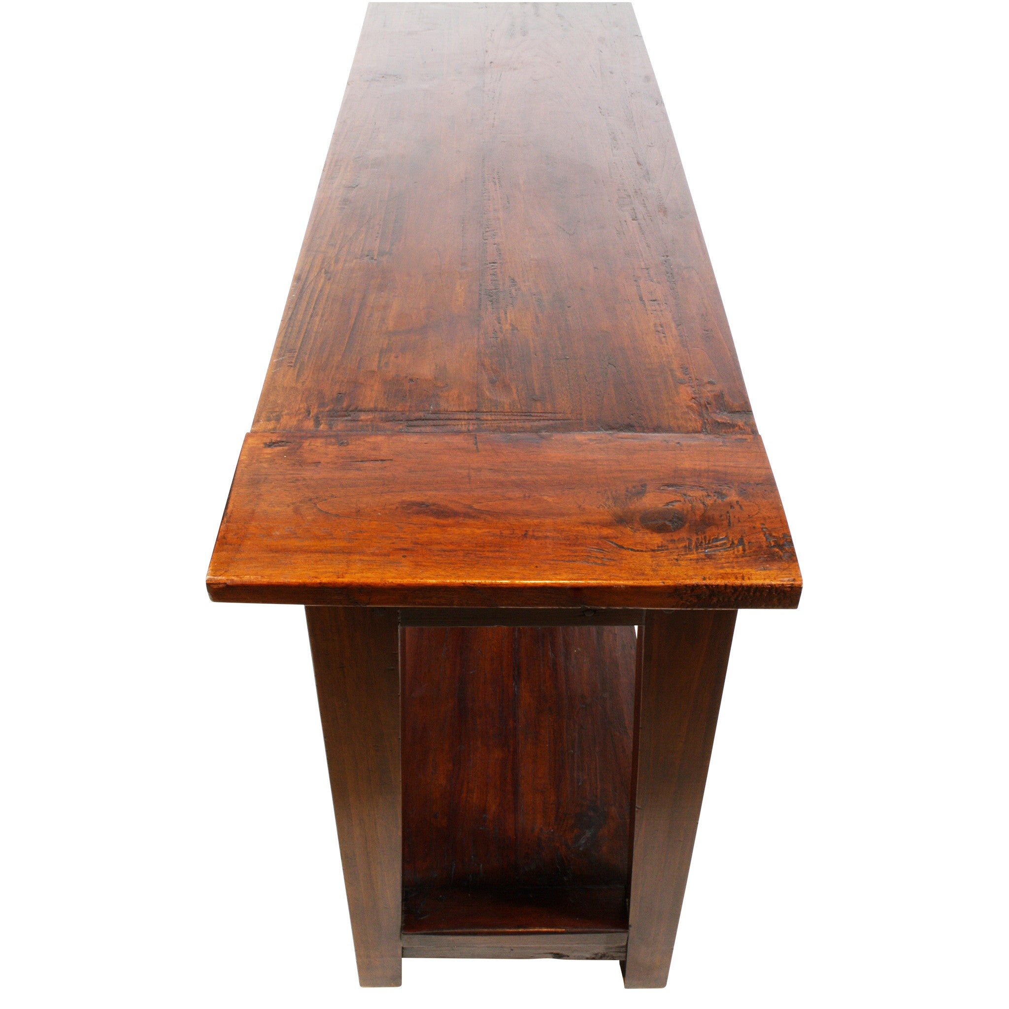 ski-country-antiques - Hand Hewn Oak Console Table