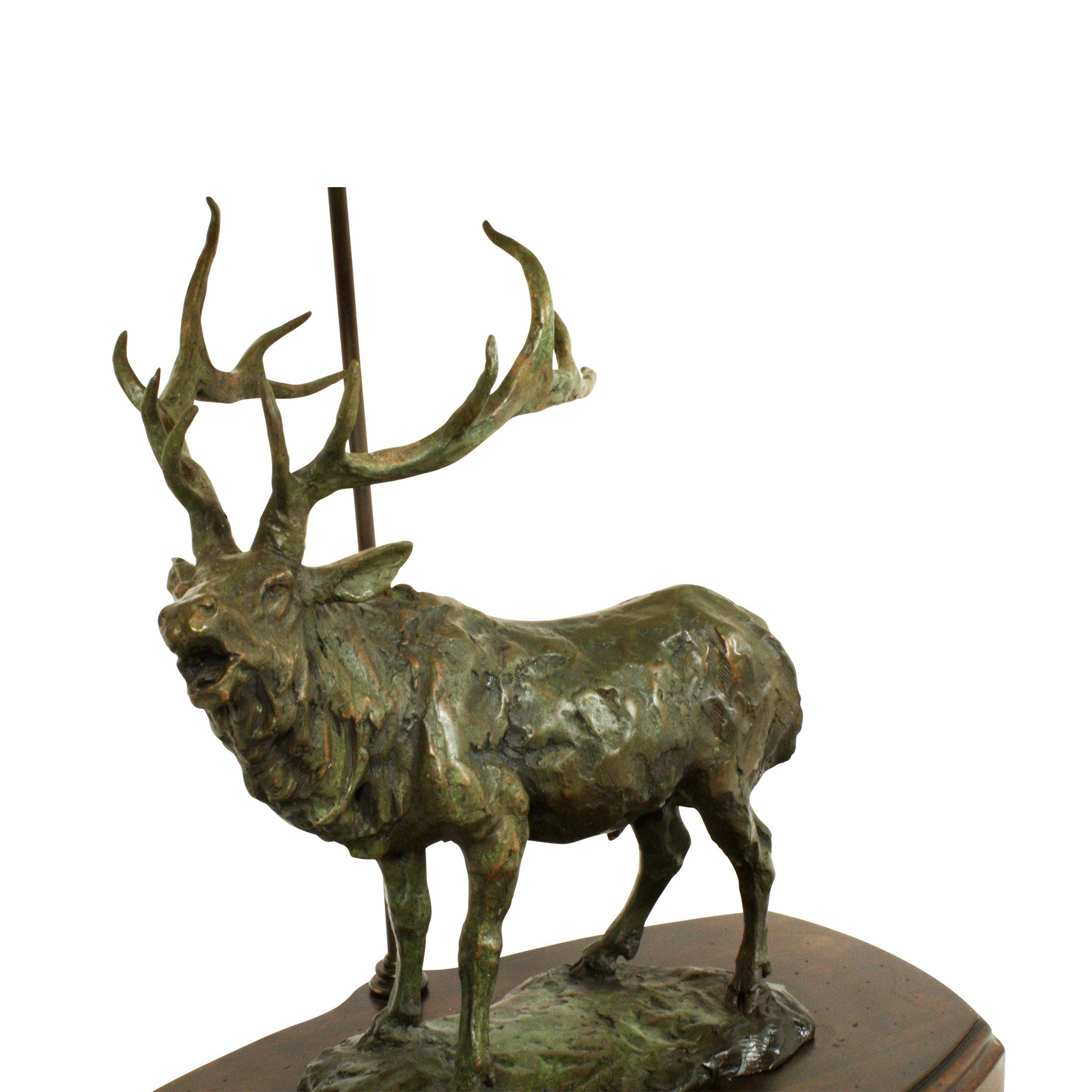 Bronze Bugling Elk Table Lamp