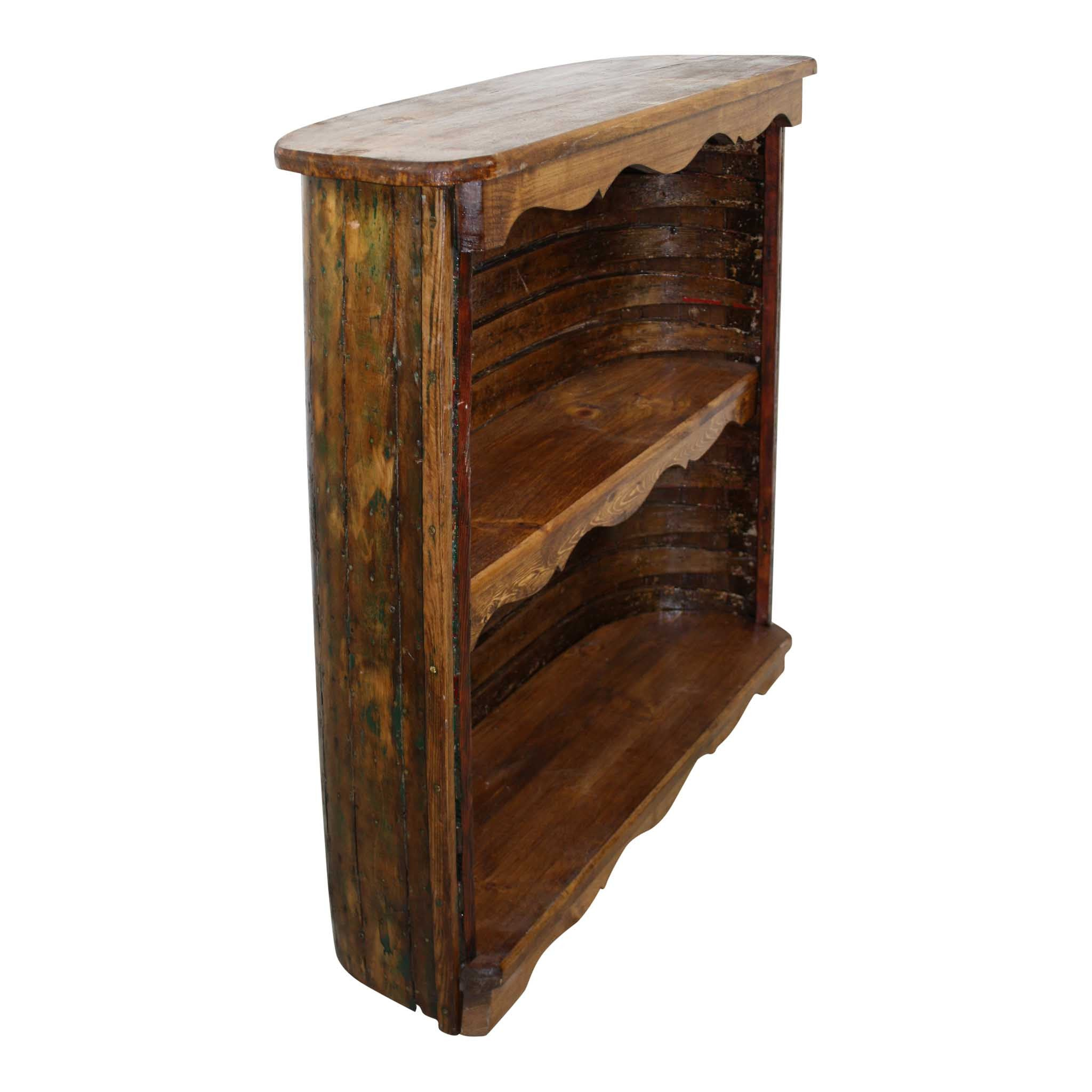 Small Wooden Canoe Bookcase