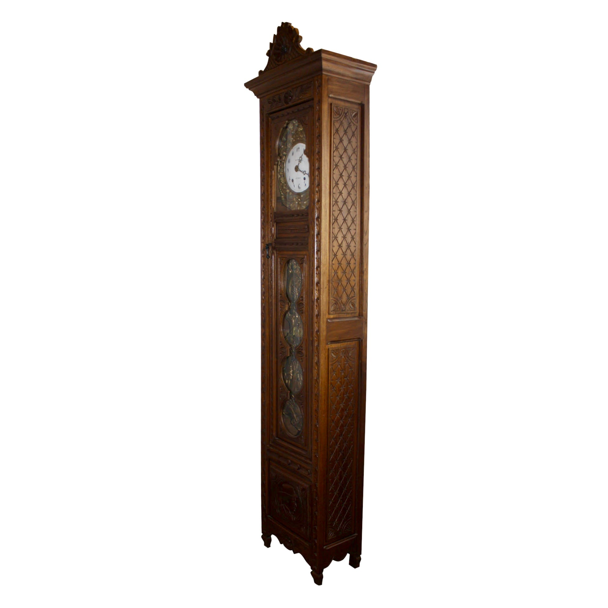 French Brittany Grandfather Clock